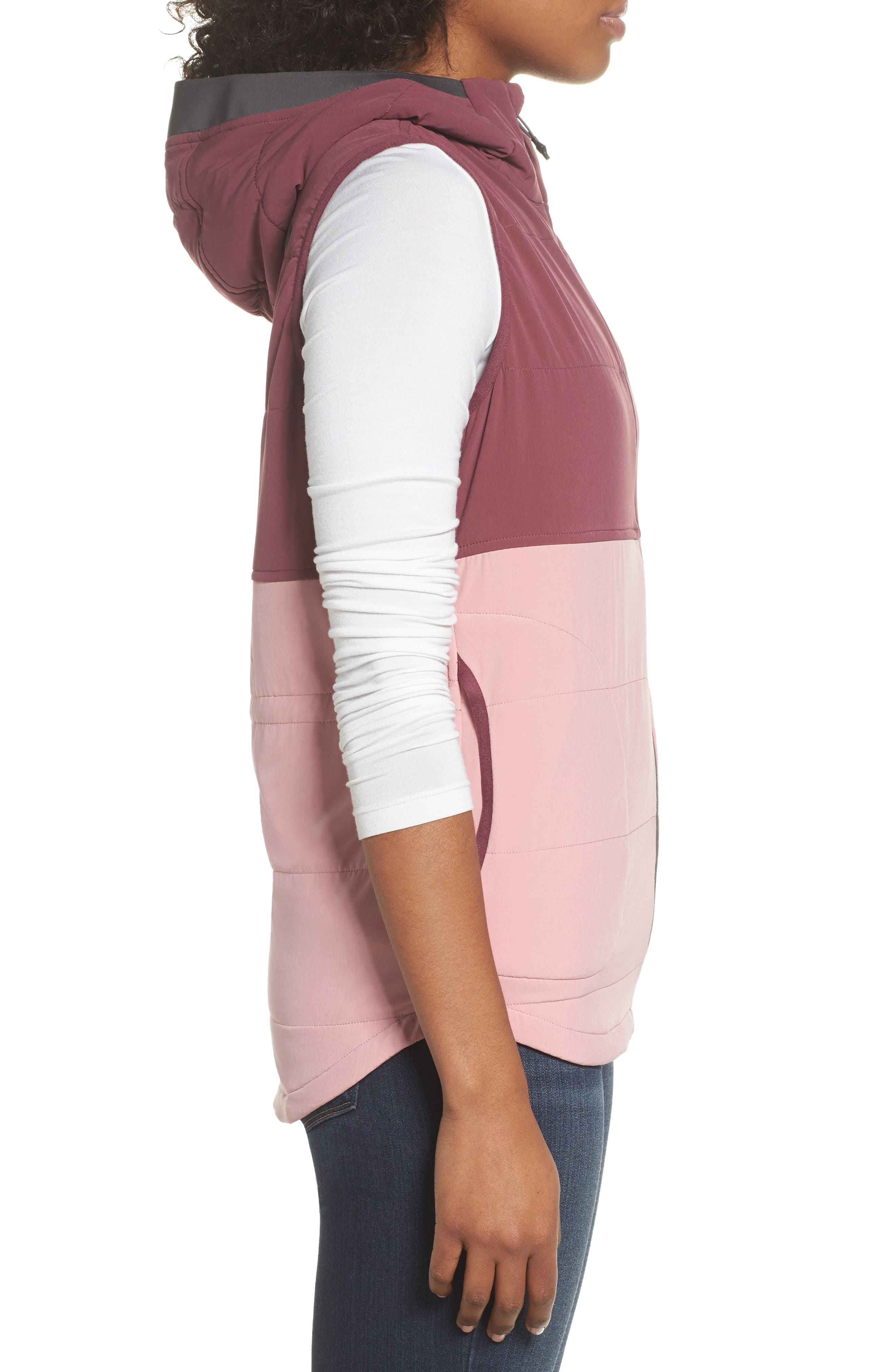 Mountain Sweatshirt Insulated Hooded Vest,                             Alternate thumbnail 12, color,