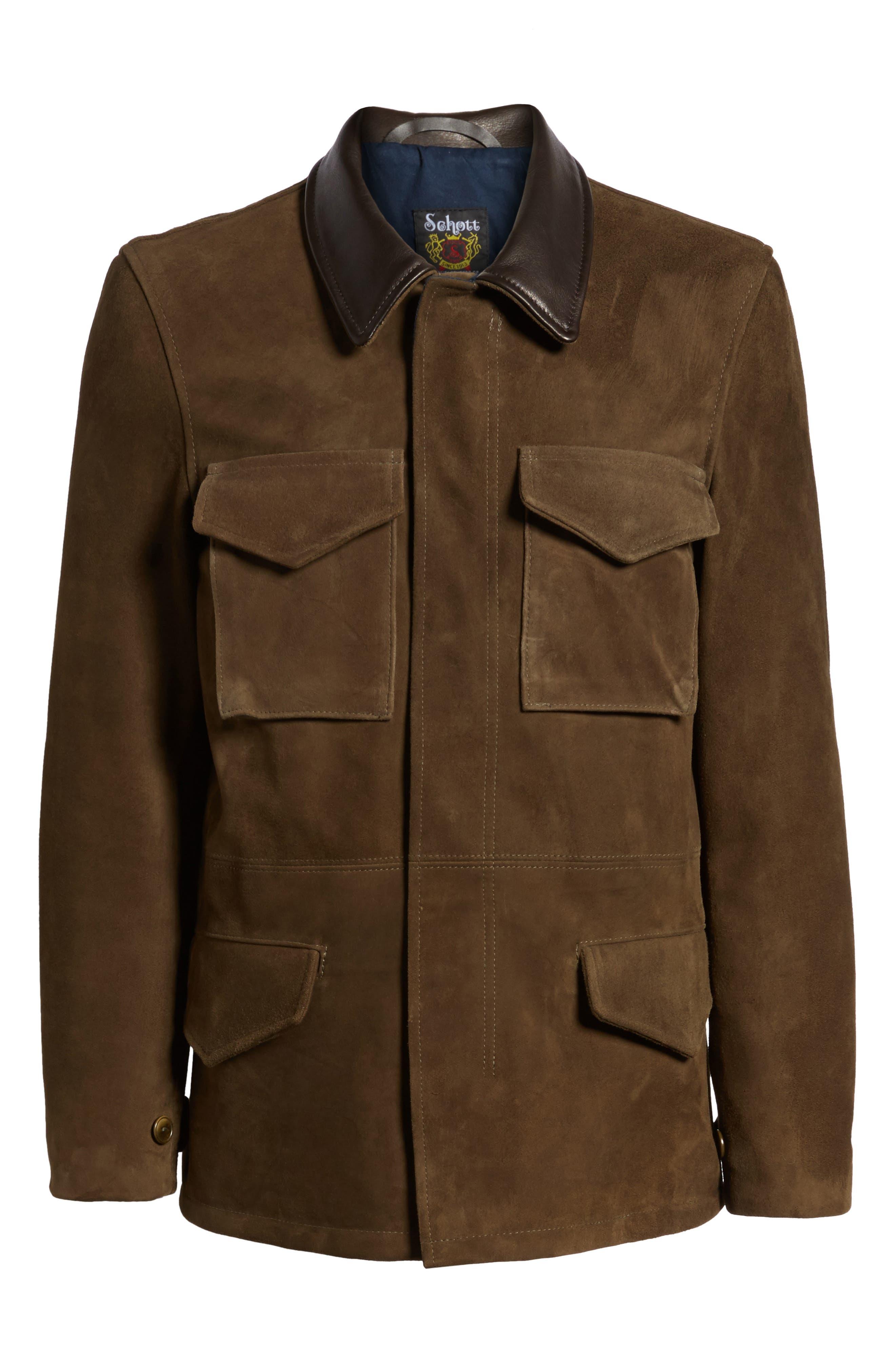 Suede M-51 Field Coat,                             Alternate thumbnail 5, color,                             352