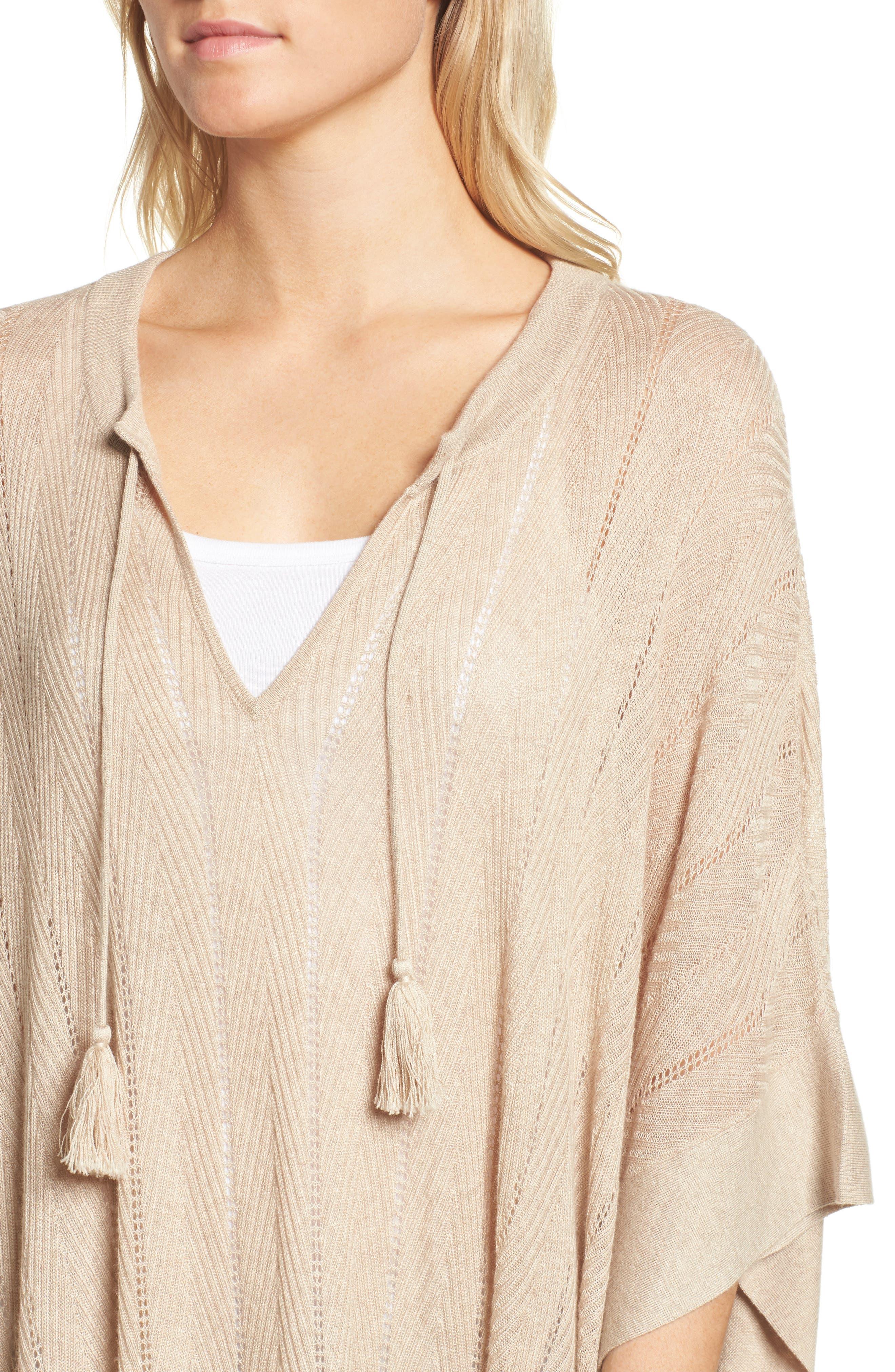 Pebble Poncho Sweater,                             Alternate thumbnail 8, color,