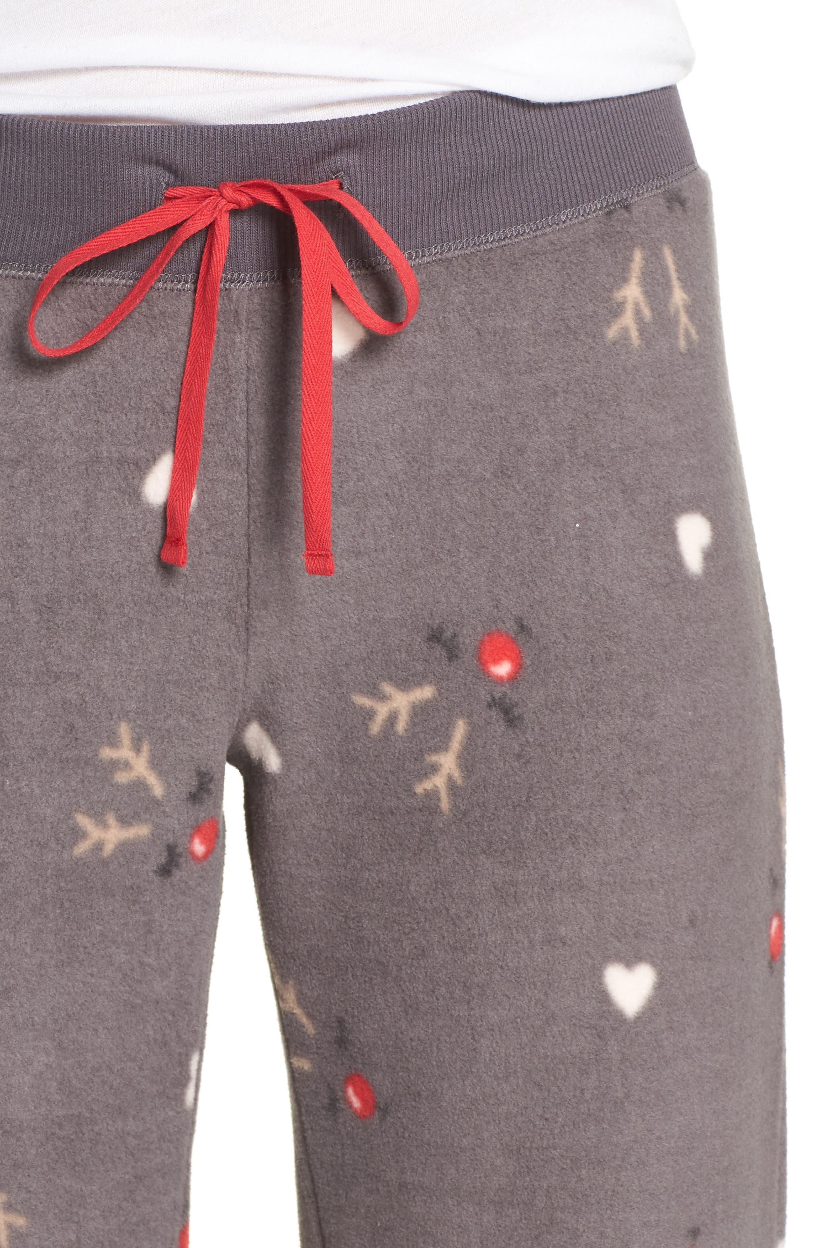 Fleece Pajama Pants,                             Alternate thumbnail 4, color,                             022