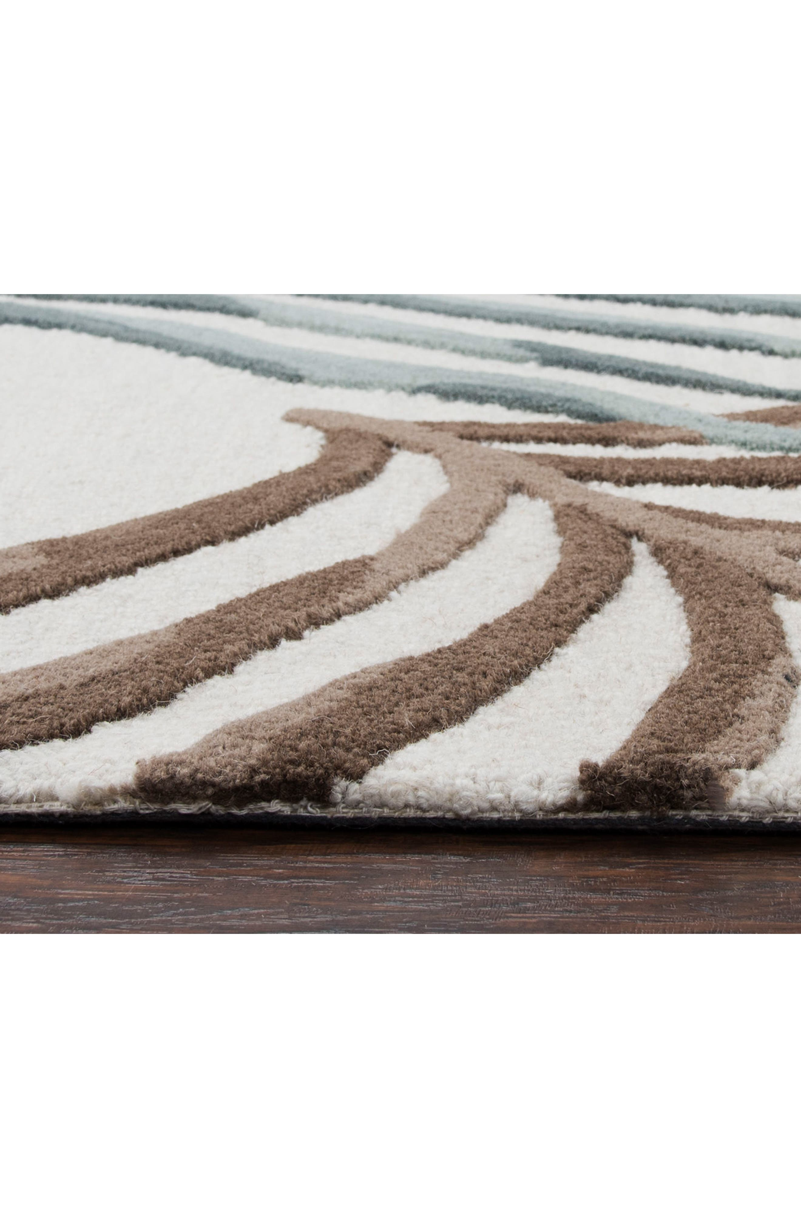 Palm Hand Tufted Wool Area Rug,                             Alternate thumbnail 4, color,                             900