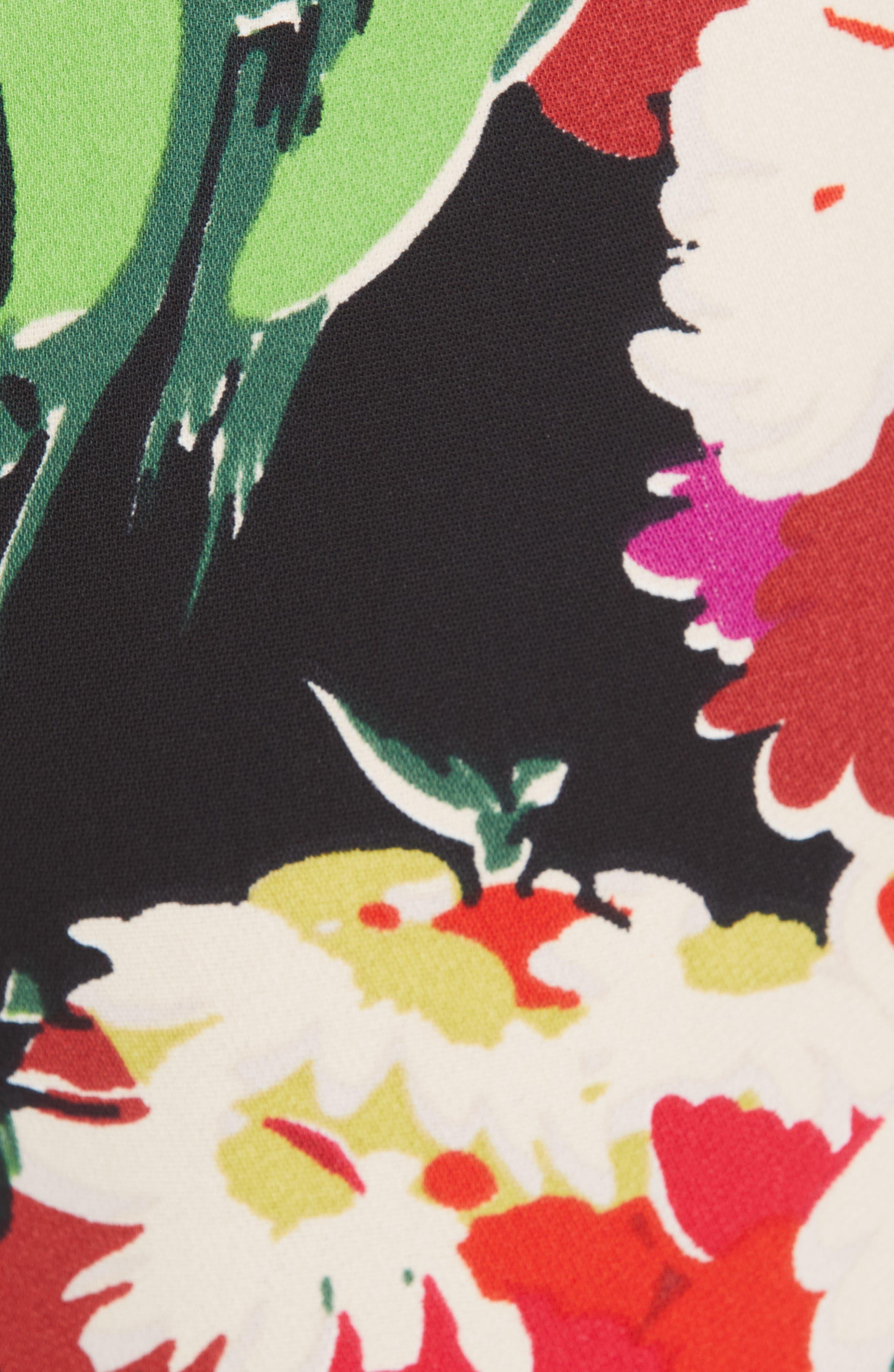 VERONICA BEARD,                             Grigore Floral Print Wide Leg Pants,                             Alternate thumbnail 5, color,                             BLACK MULTI