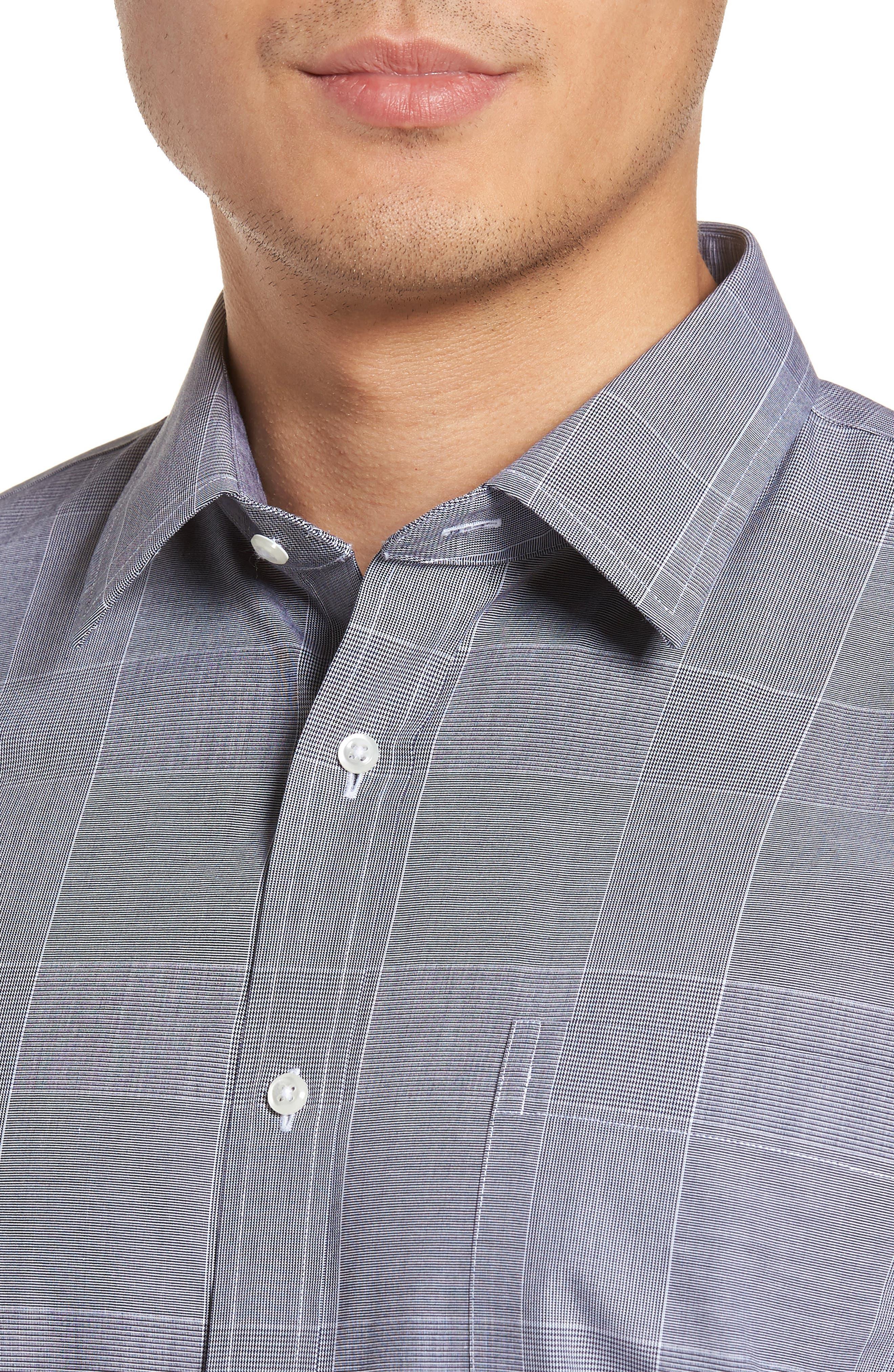 Smartcare<sup>™</sup> Trim Fit Plaid Dress Shirt,                             Alternate thumbnail 2, color,                             410