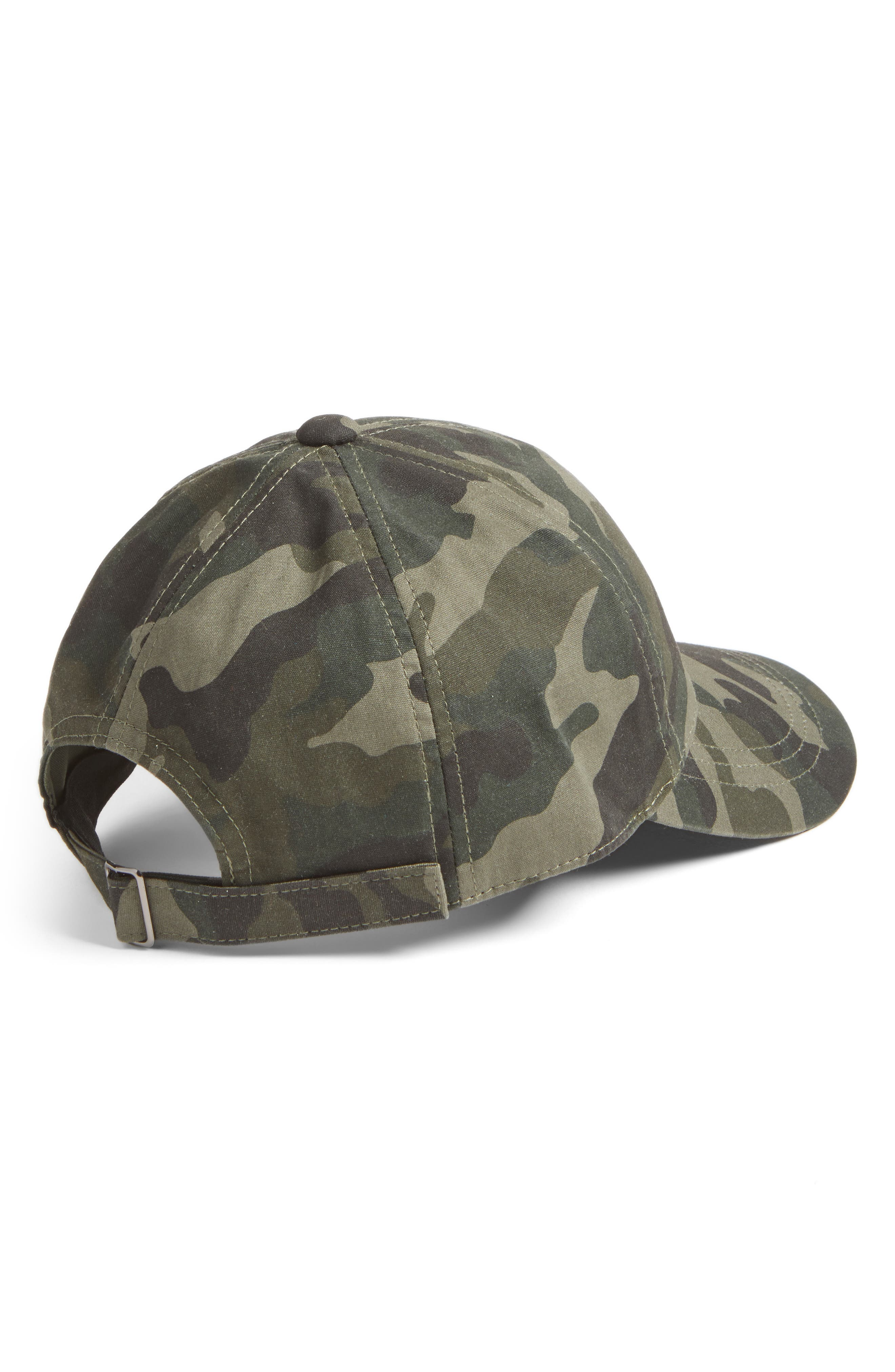 Camo Print Baseball Cap,                             Alternate thumbnail 2, color,