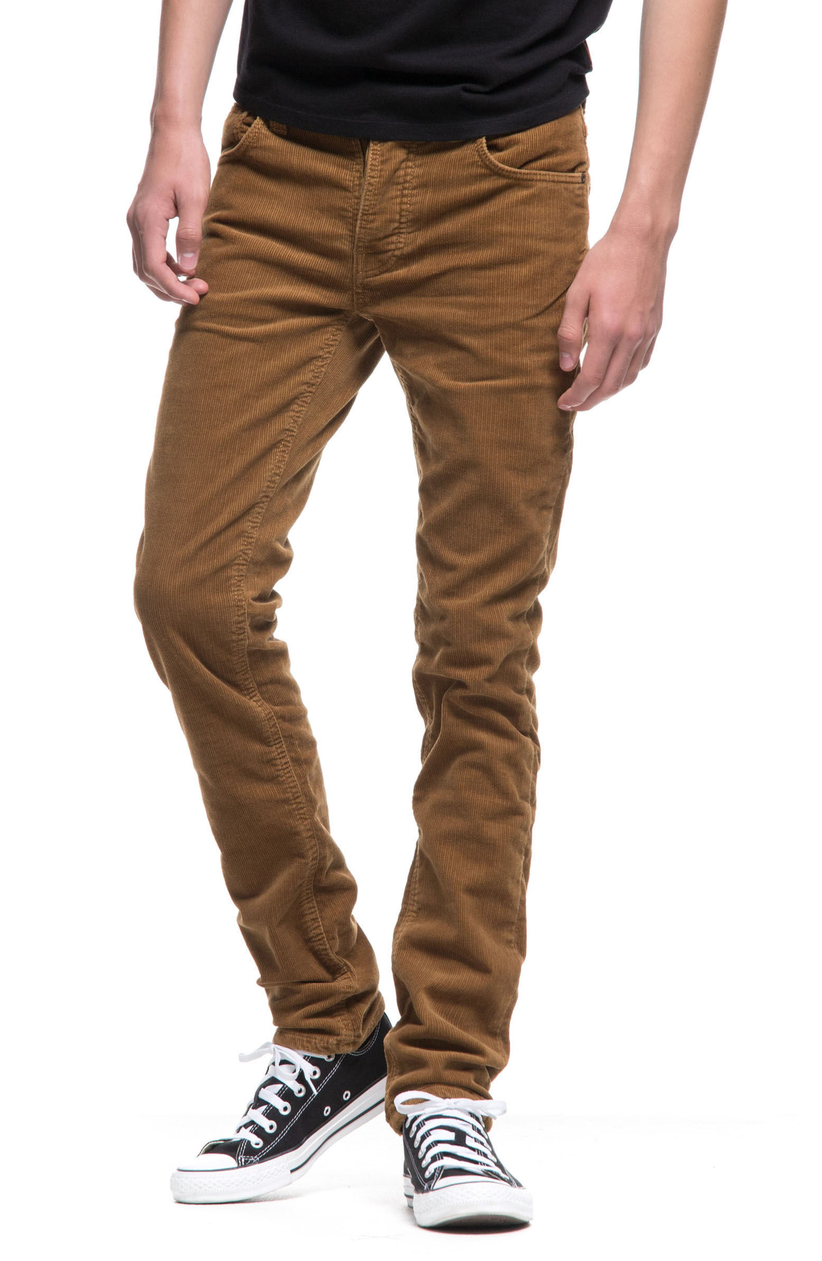 Grim Tim Slim Fit Corduroy Pants,                             Alternate thumbnail 4, color,