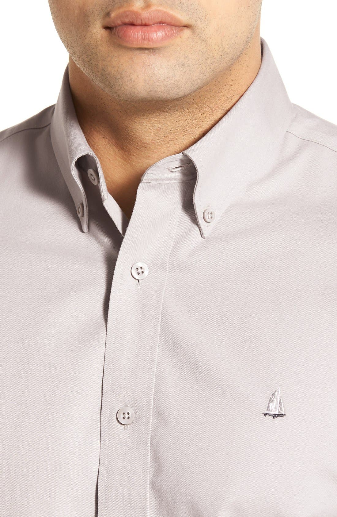 Smartcare<sup>™</sup> Traditional Fit Twill Boat Shirt,                             Alternate thumbnail 114, color,