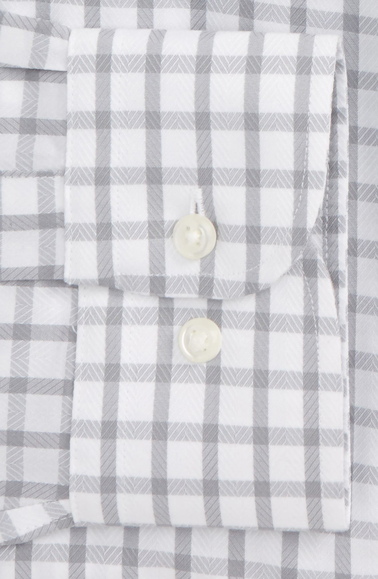 Smartcare<sup>™</sup> Trim Fit Check Dress Shirt,                             Alternate thumbnail 6, color,                             050
