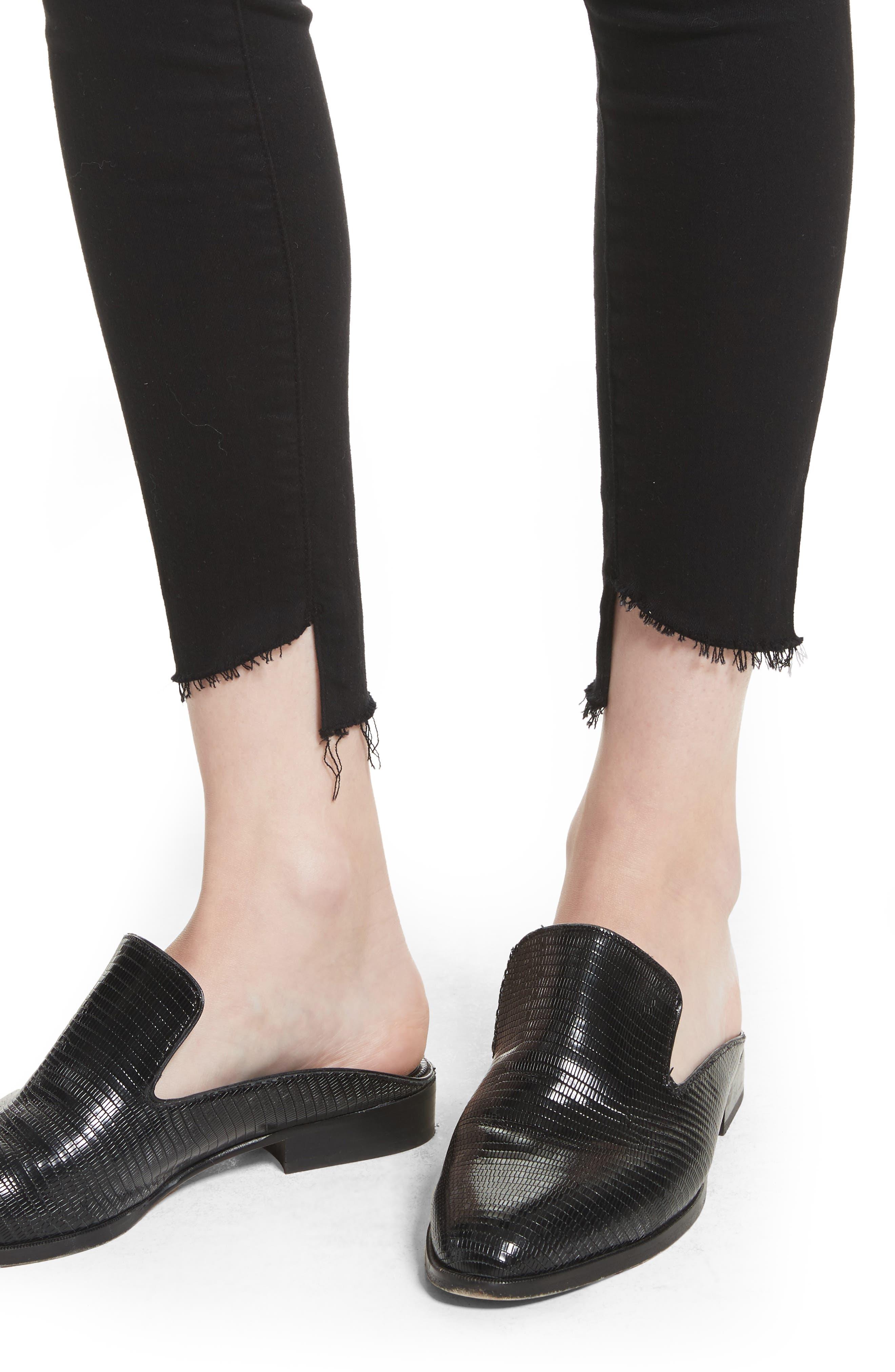 Le High Skinny Step Hem Jeans,                             Alternate thumbnail 4, color,                             002