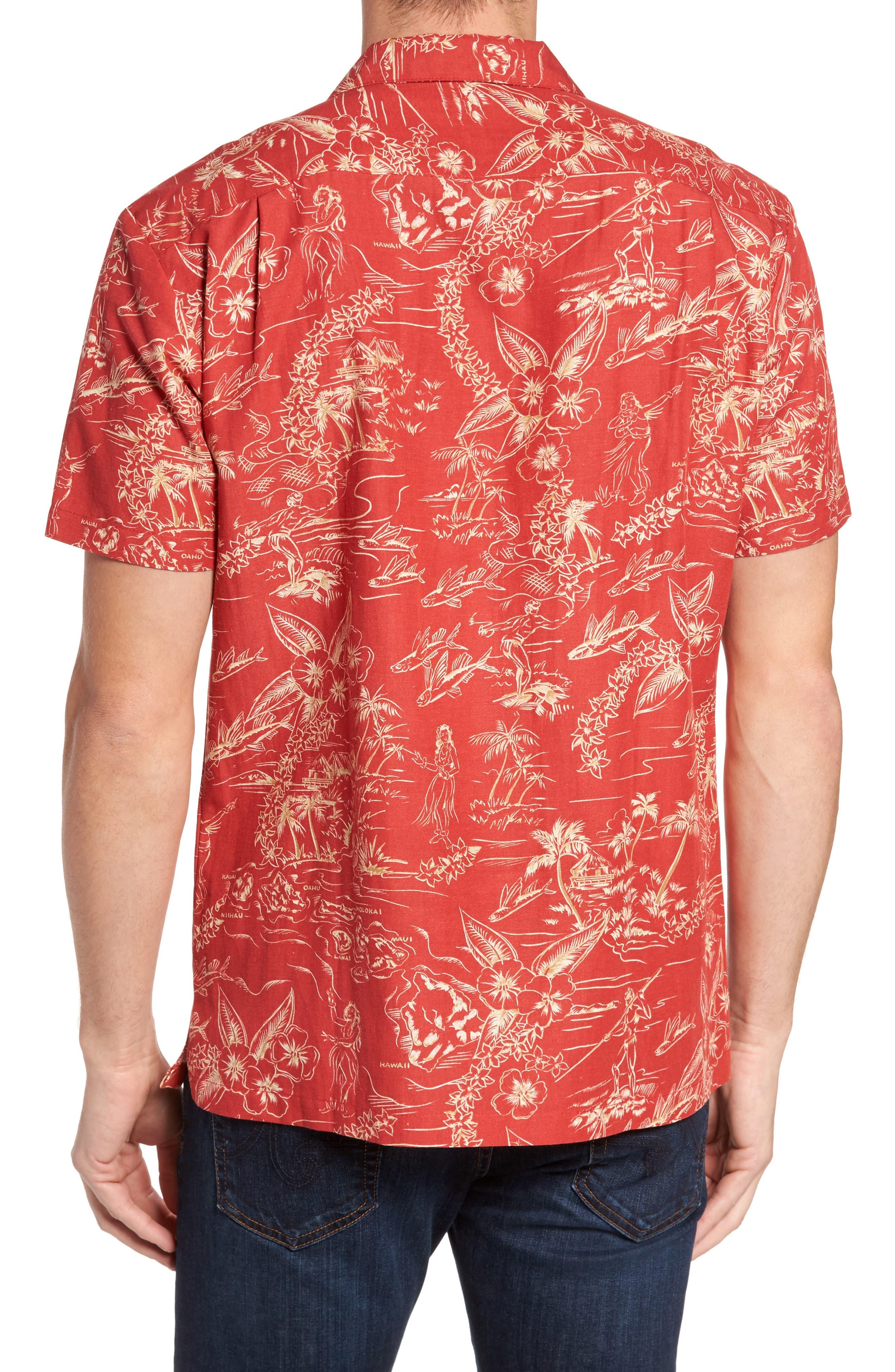 Konohiki Trim Fit Print Sport Shirt,                             Alternate thumbnail 2, color,                             605