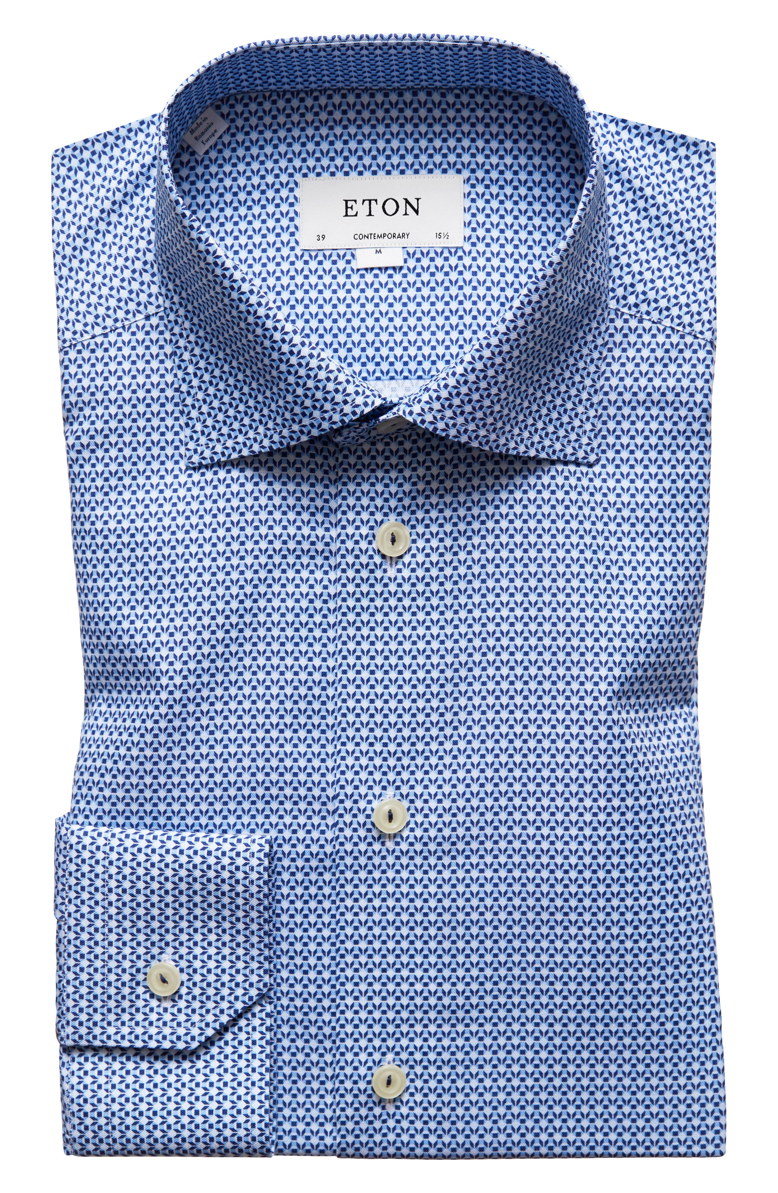 Contemporary Fit Pattern Dress Shirt,                         Main,                         color, 400