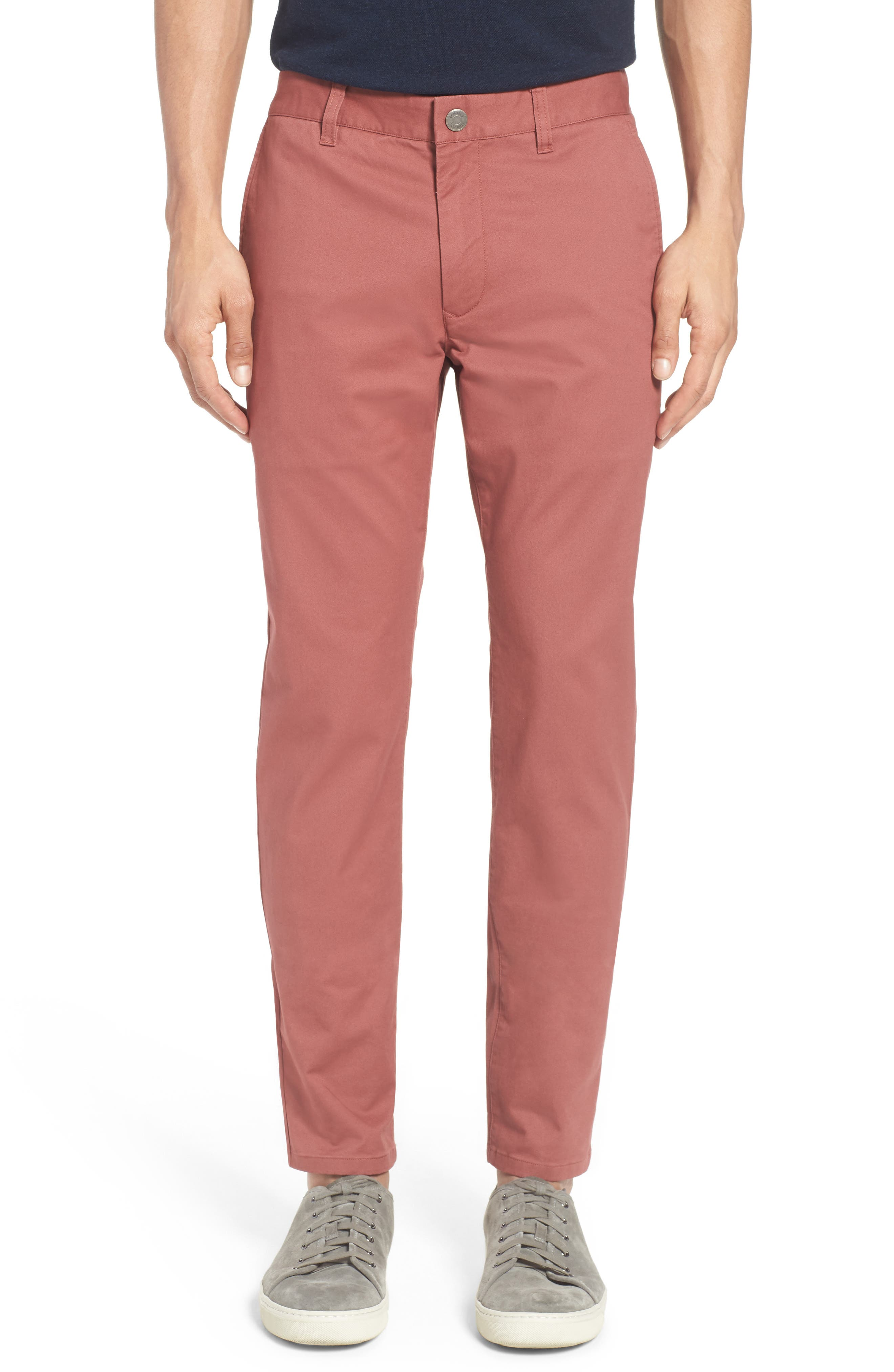 Tailored Fit Washed Stretch Cotton Chinos,                             Main thumbnail 34, color,
