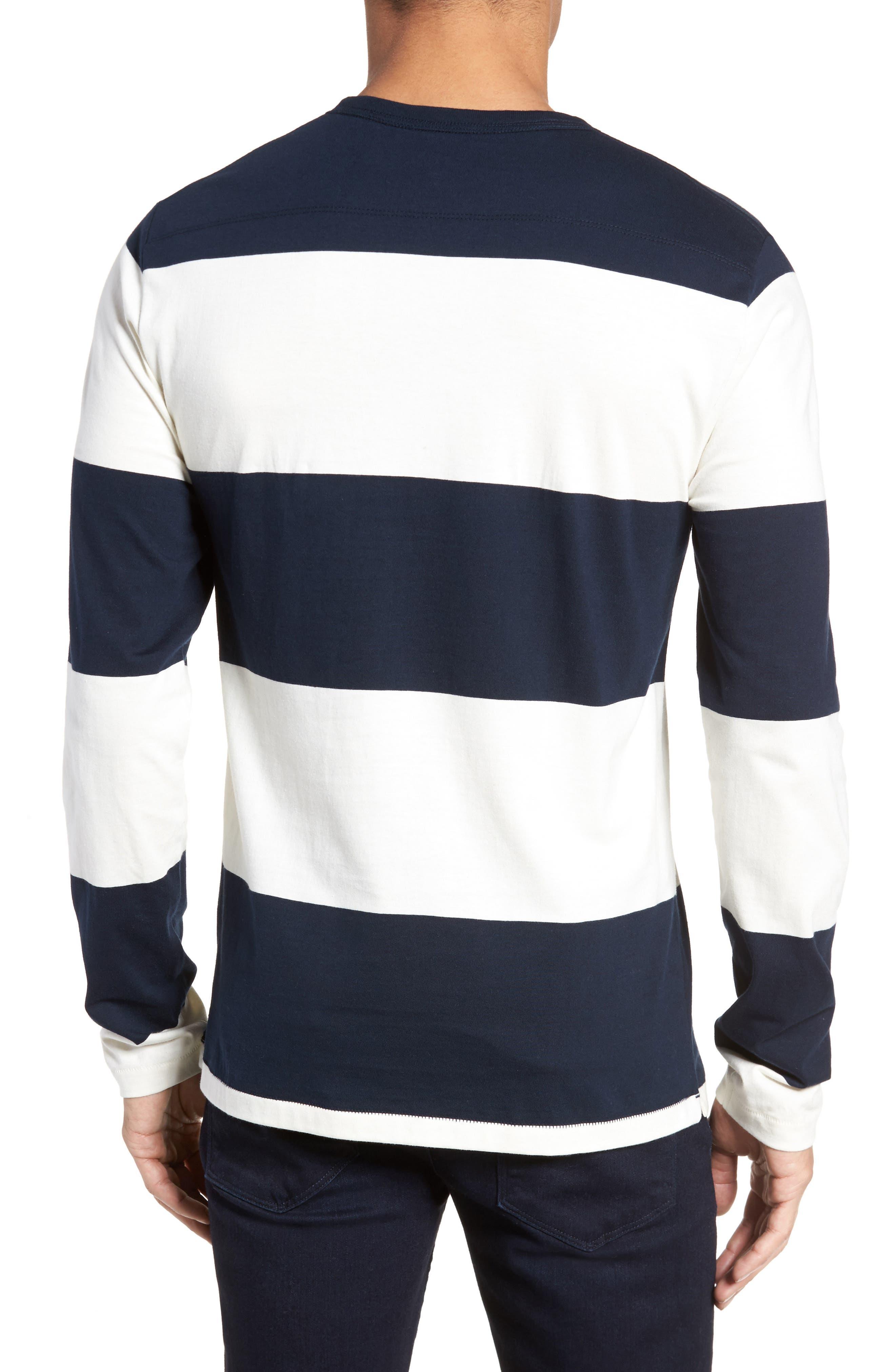 Regular Fit Block Stripe Shirt,                             Alternate thumbnail 2, color,                             100