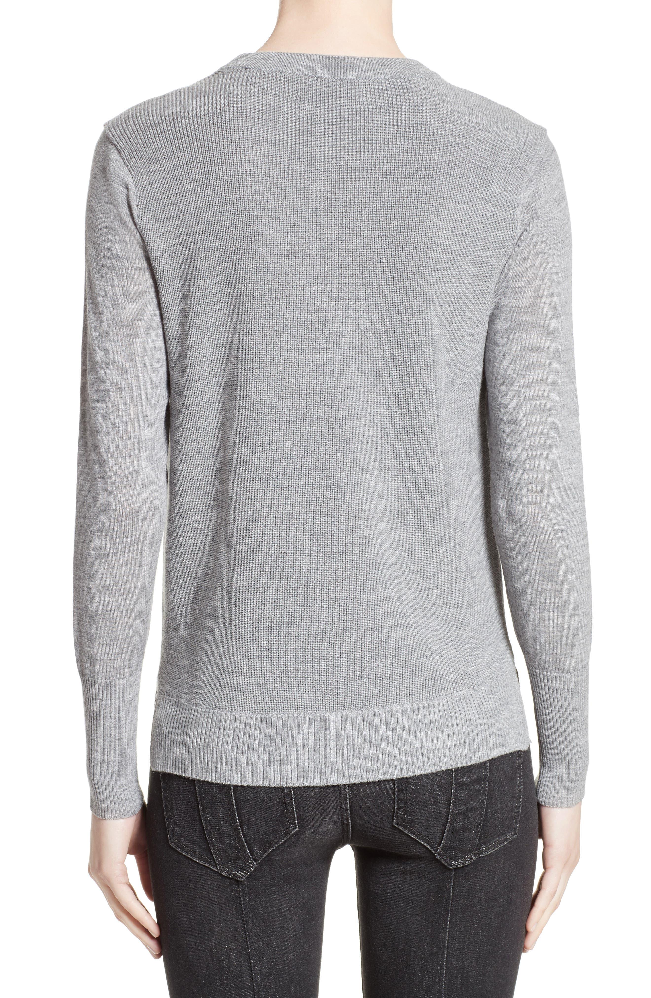 Meigan Merino Wool Sweater,                             Alternate thumbnail 4, color,
