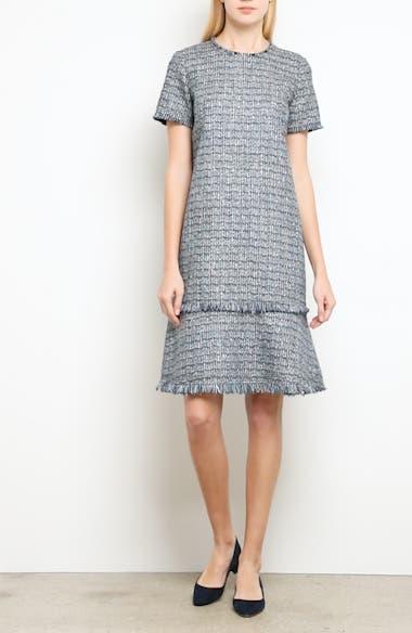 Alternate Video 7  - Lafayette 148 New York Saria Tweed Drop Waist Dress