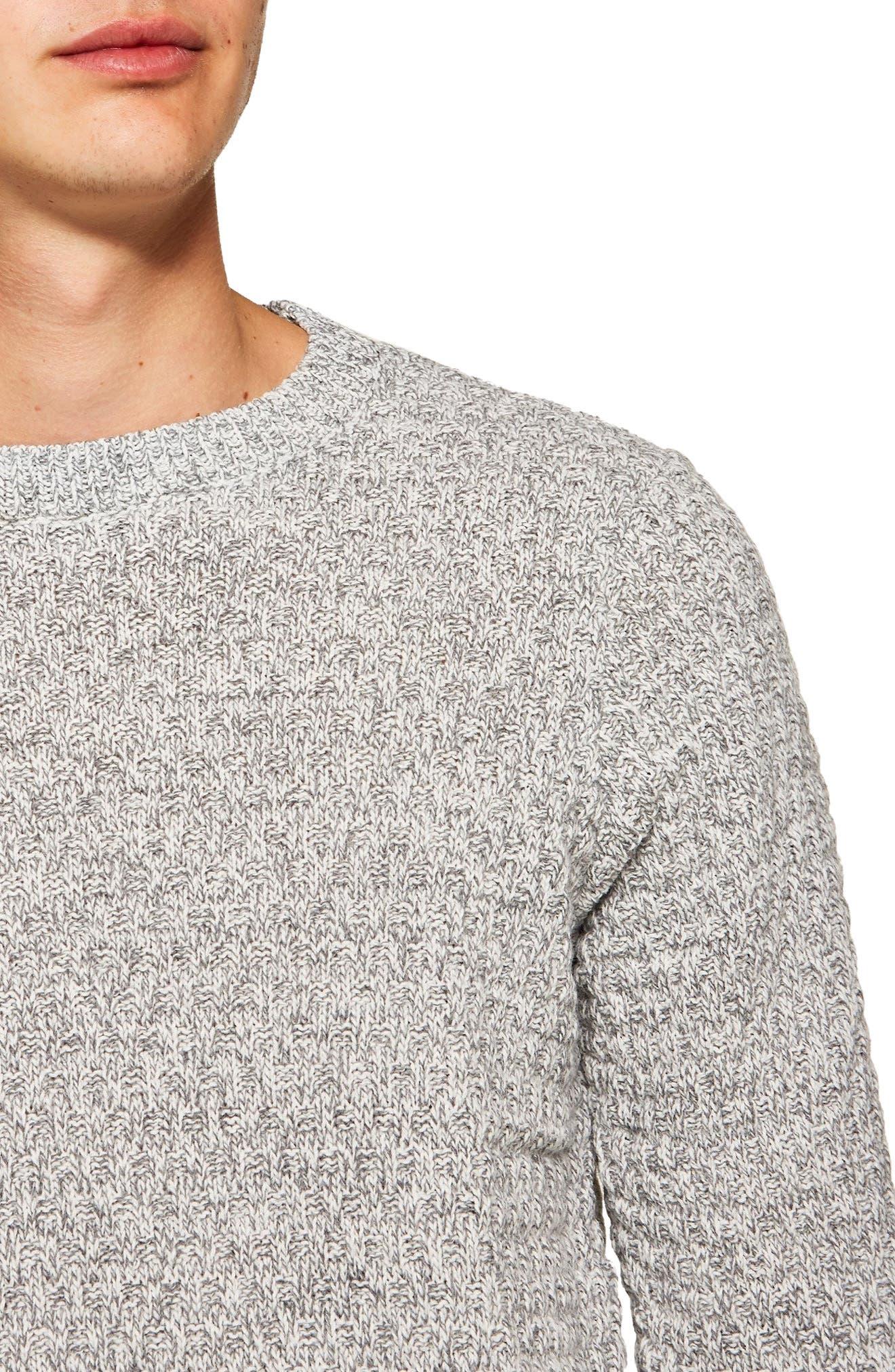 Textured Crewneck Sweater,                             Alternate thumbnail 3, color,                             020