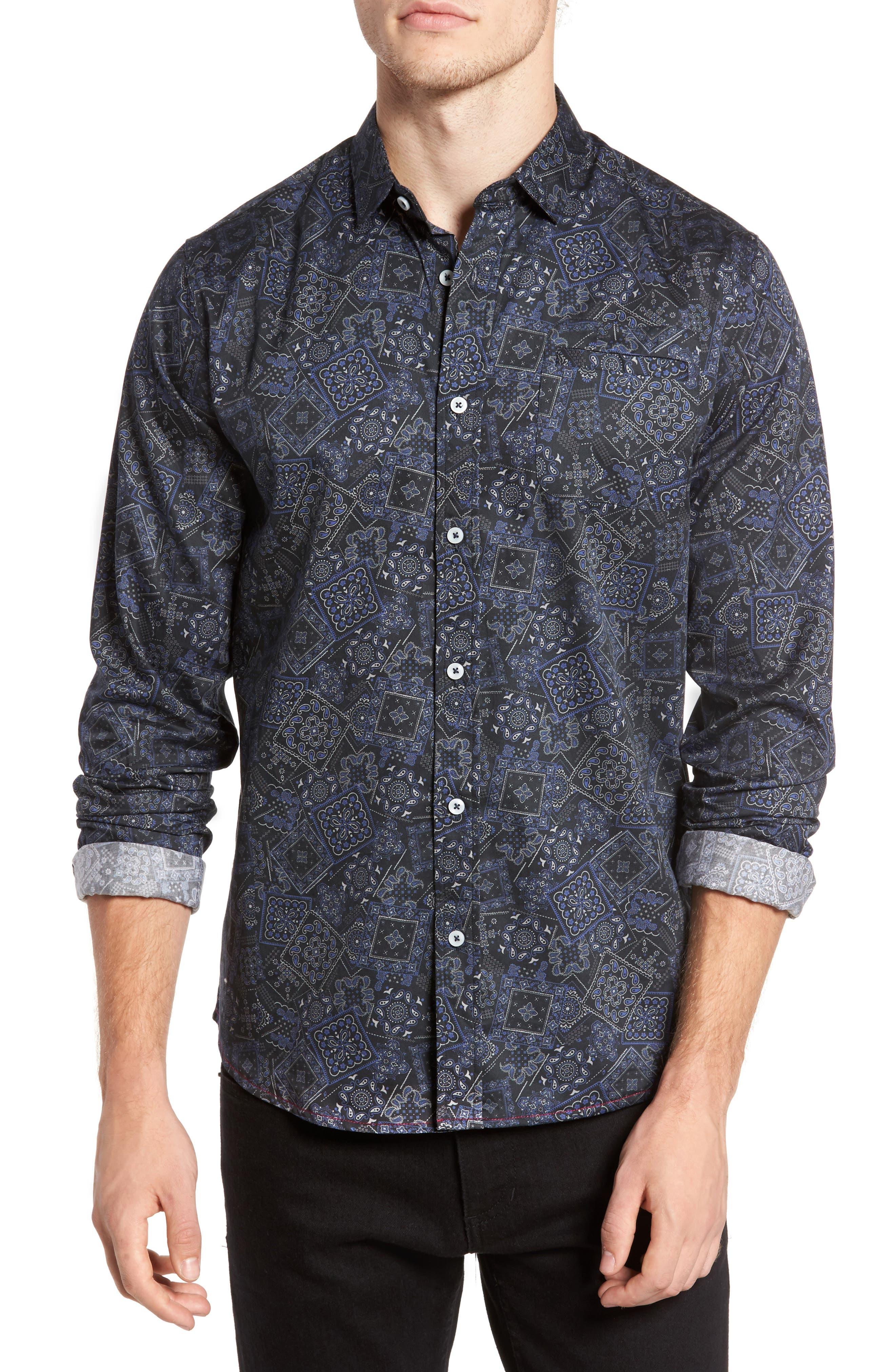 Bandana Woven Shirt,                             Main thumbnail 1, color,                             400