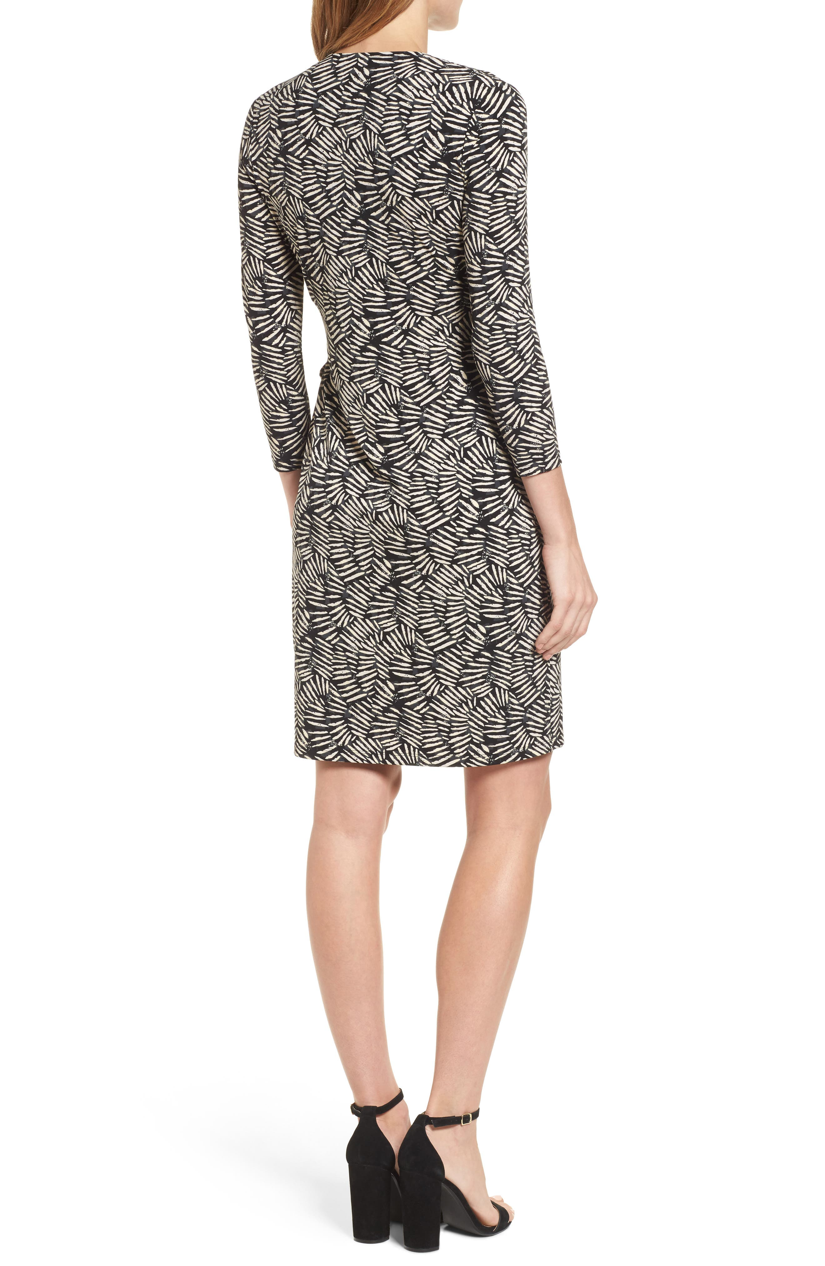 Print Wrap Dress,                             Alternate thumbnail 2, color,                             011