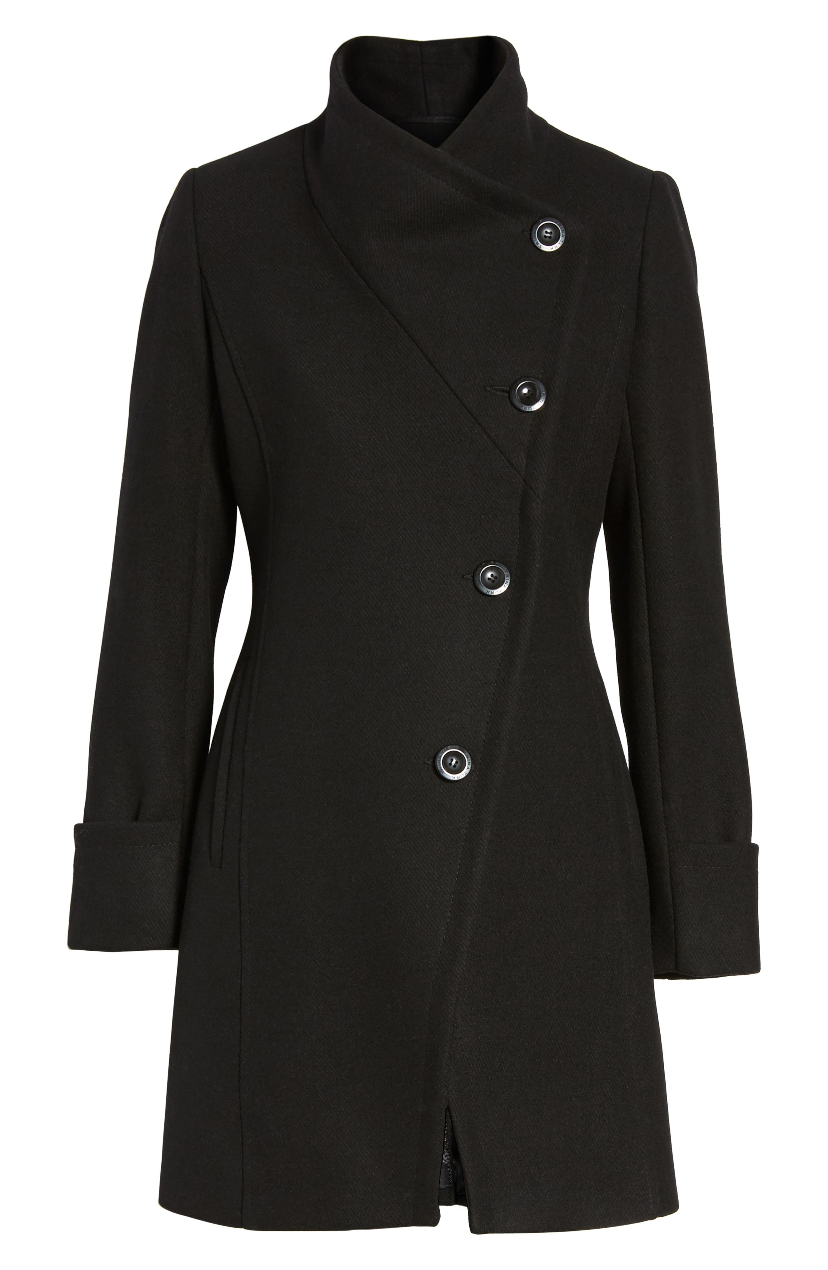 Fiona Double Breasted Coat,                             Alternate thumbnail 5, color,                             001