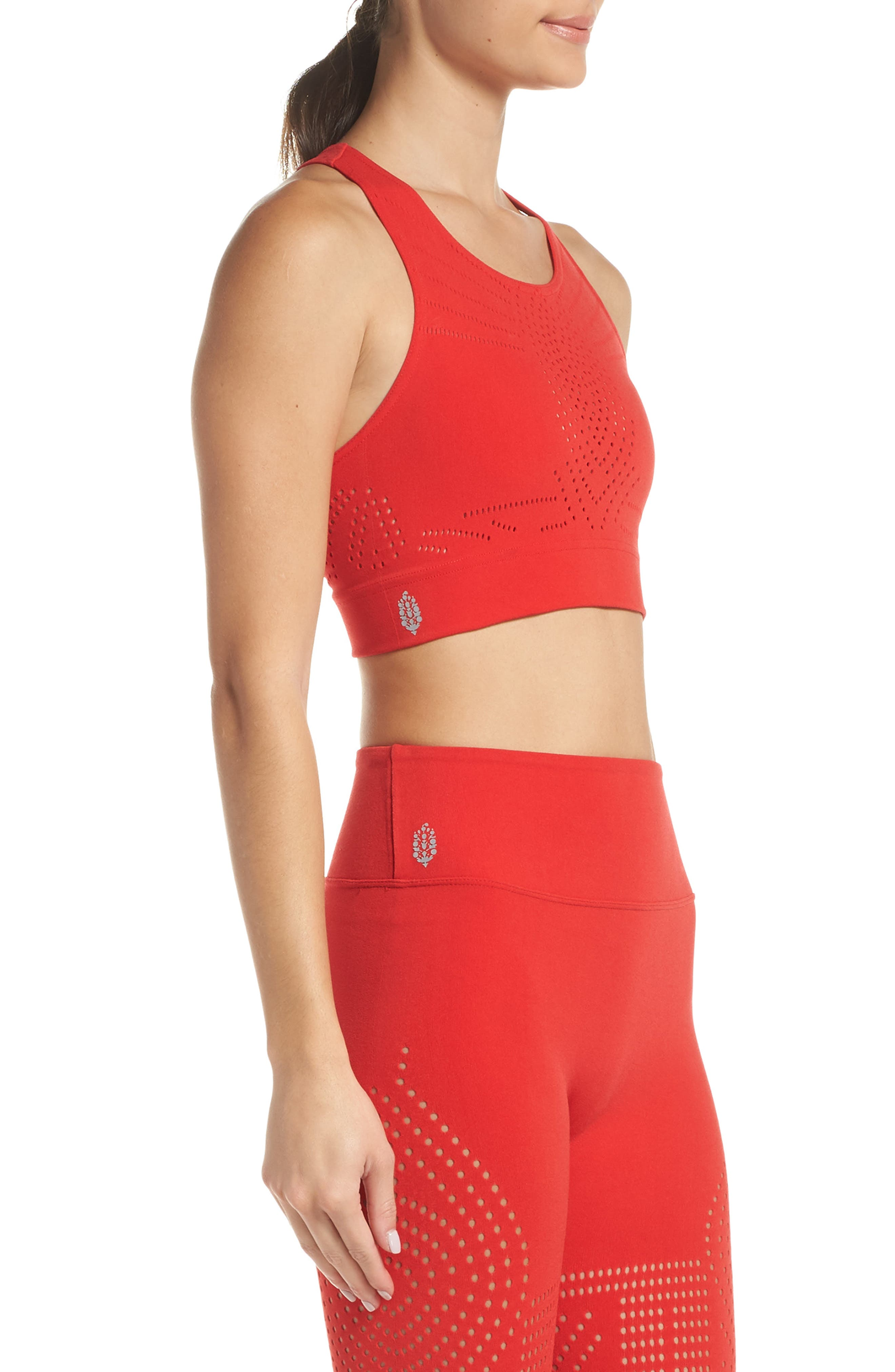 FP Movement Ecology Sports Bra,                             Alternate thumbnail 3, color,                             RED