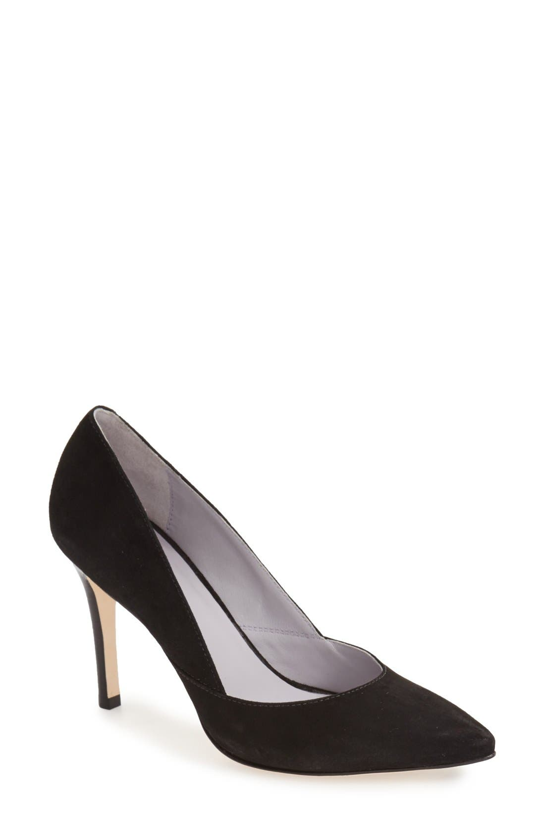 'Vanessa' Pointy Toe Leather Pump,                             Main thumbnail 1, color,