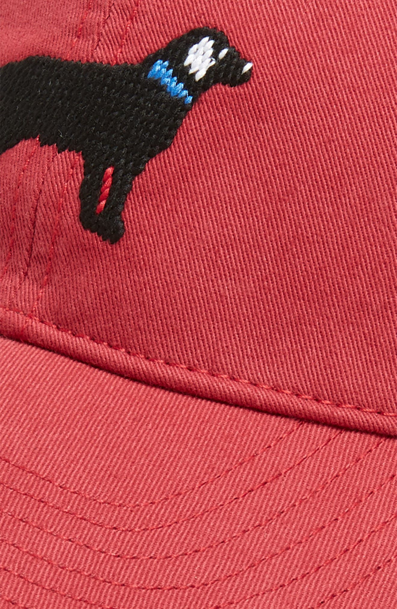 Black Lab Baseball Cap,                             Alternate thumbnail 3, color,                             WEATHERED RED