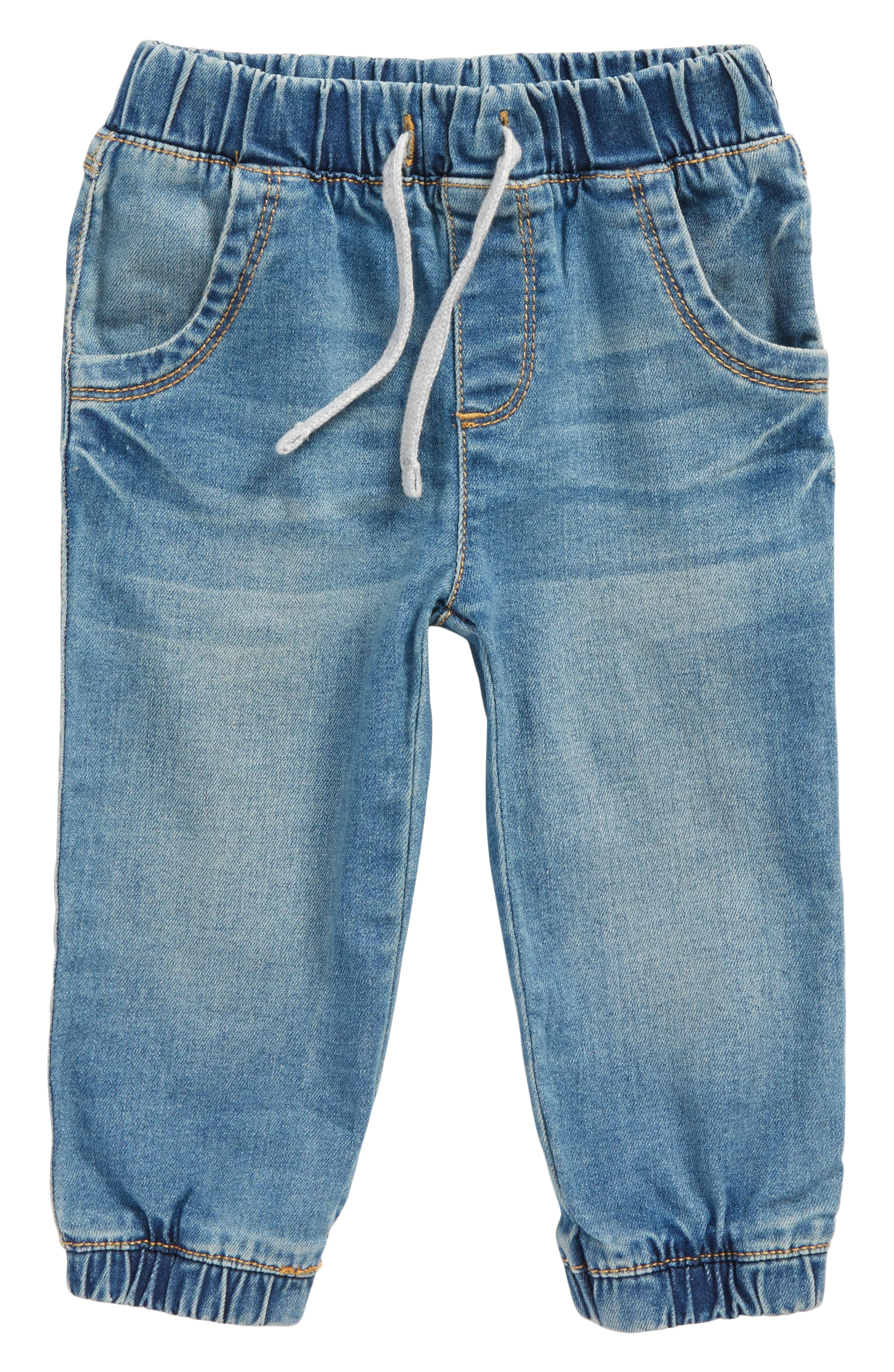 Stretch Denim Jogger Pants,                         Main,                         color, 401