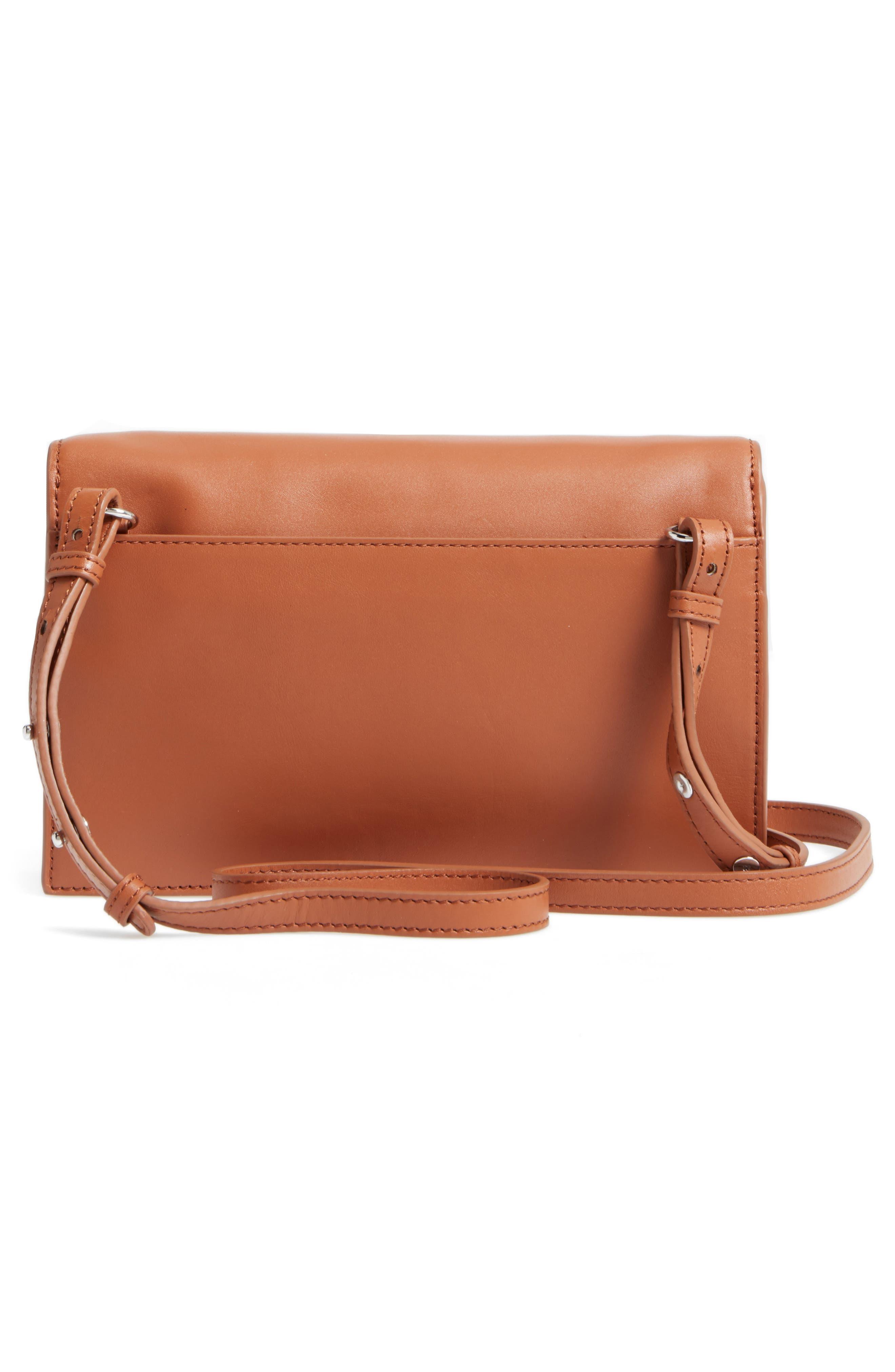 Easton Leather Envelope Crossbody Bag,                             Alternate thumbnail 3, color,                             200