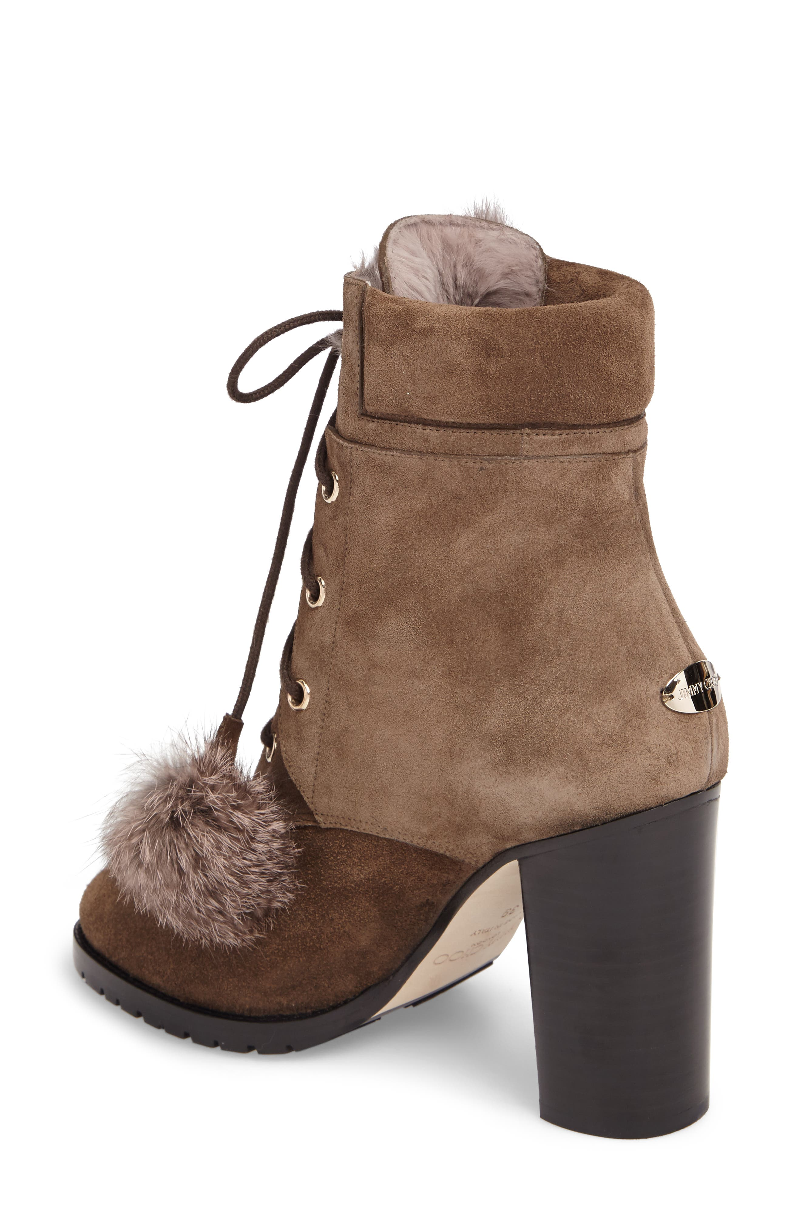 Elba Genuine Rabbit Fur Boot,                             Alternate thumbnail 2, color,