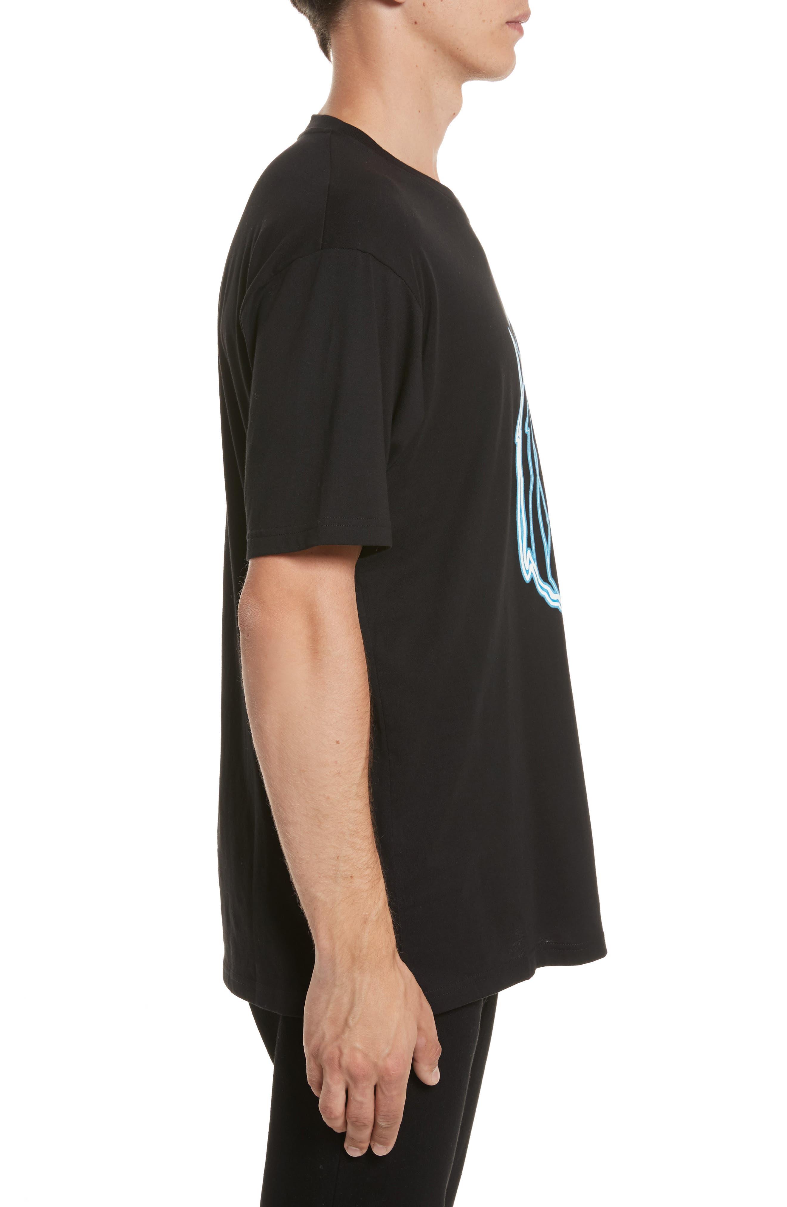 VERSUS by Versace Electric Lion Graphic T-Shirt,                             Alternate thumbnail 3, color,                             005