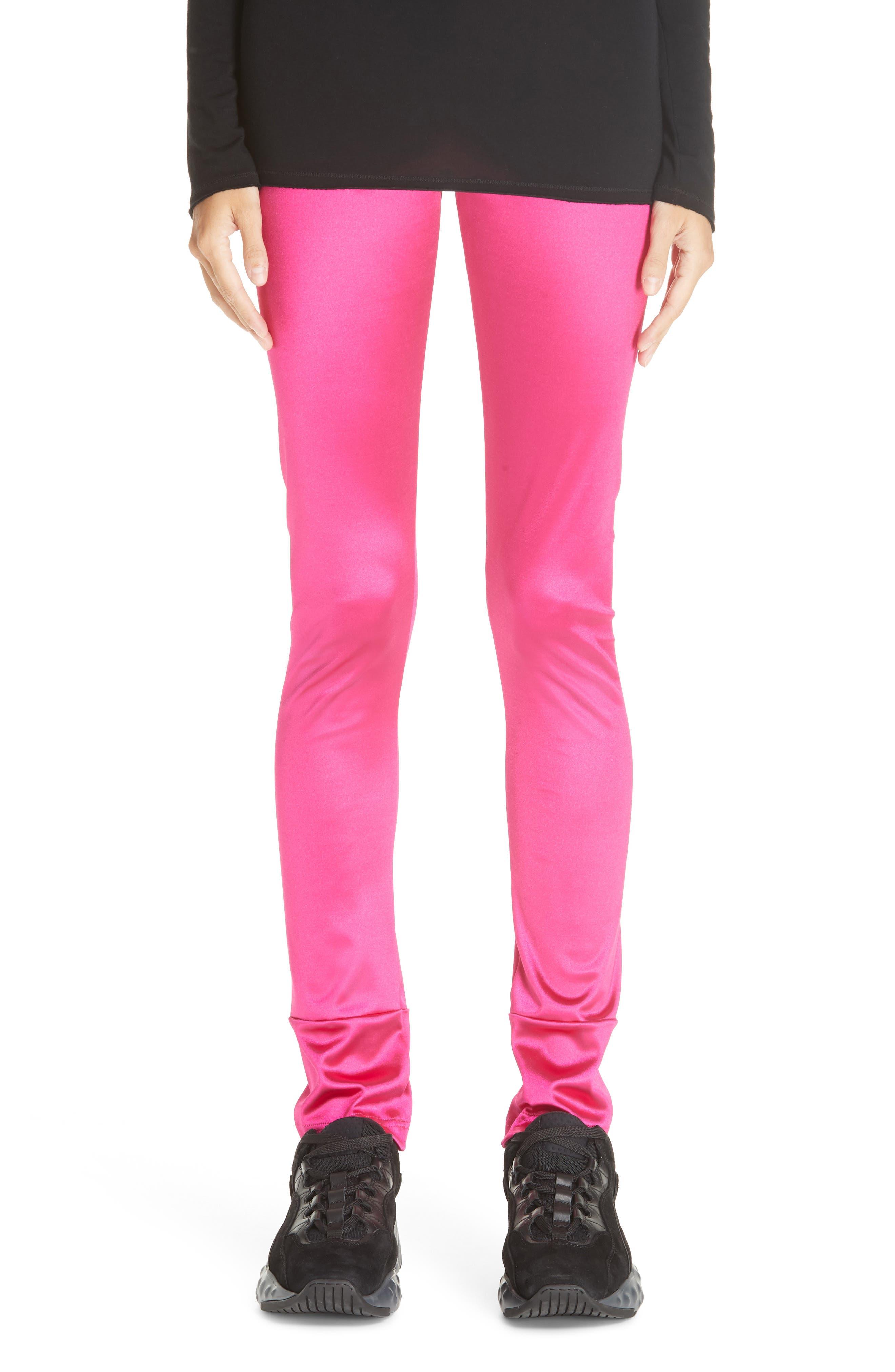 Junya Watanabe Stretch Satin Leggings, Pink