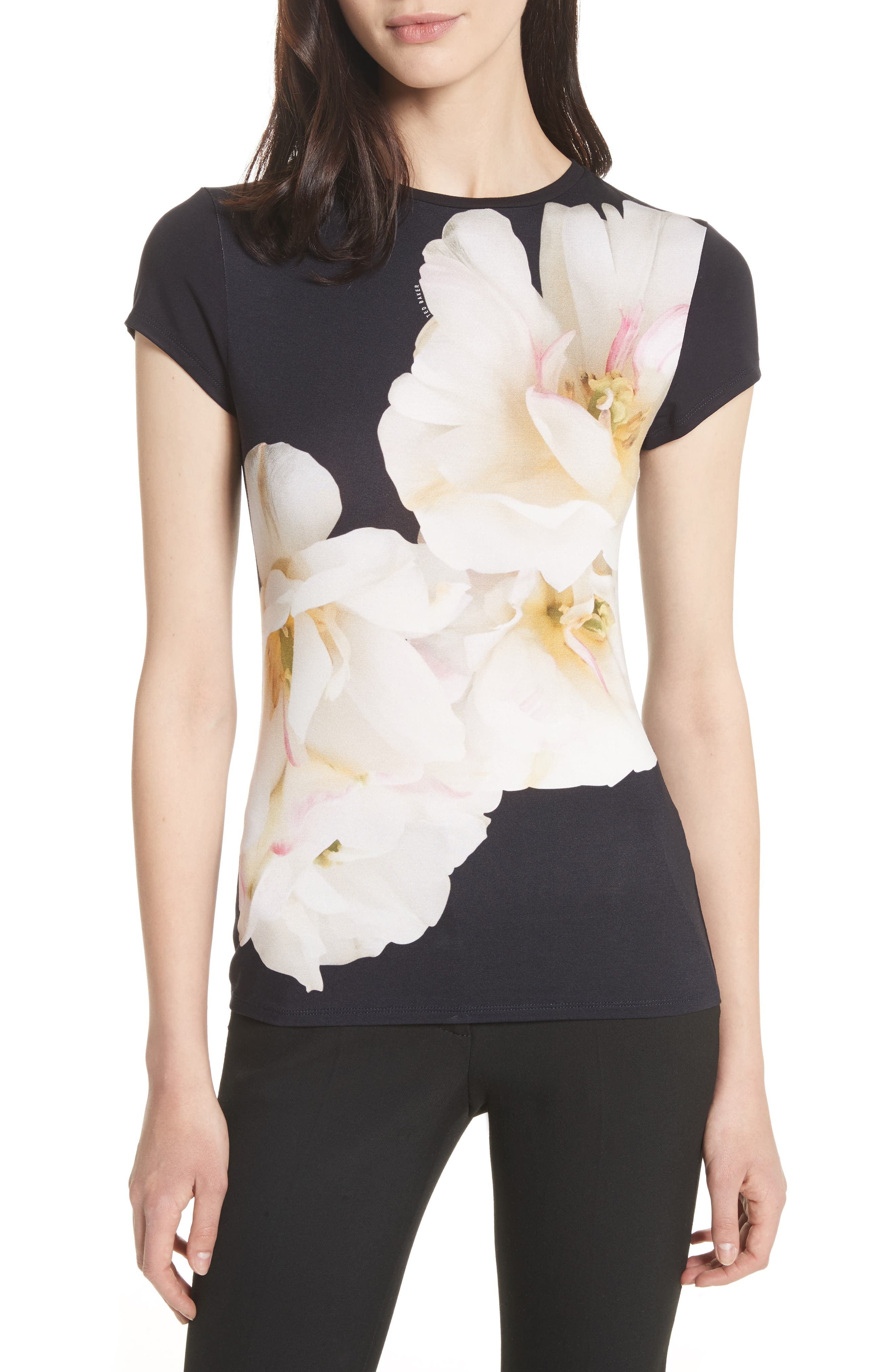 Gardenia Fitted Tee,                         Main,                         color,