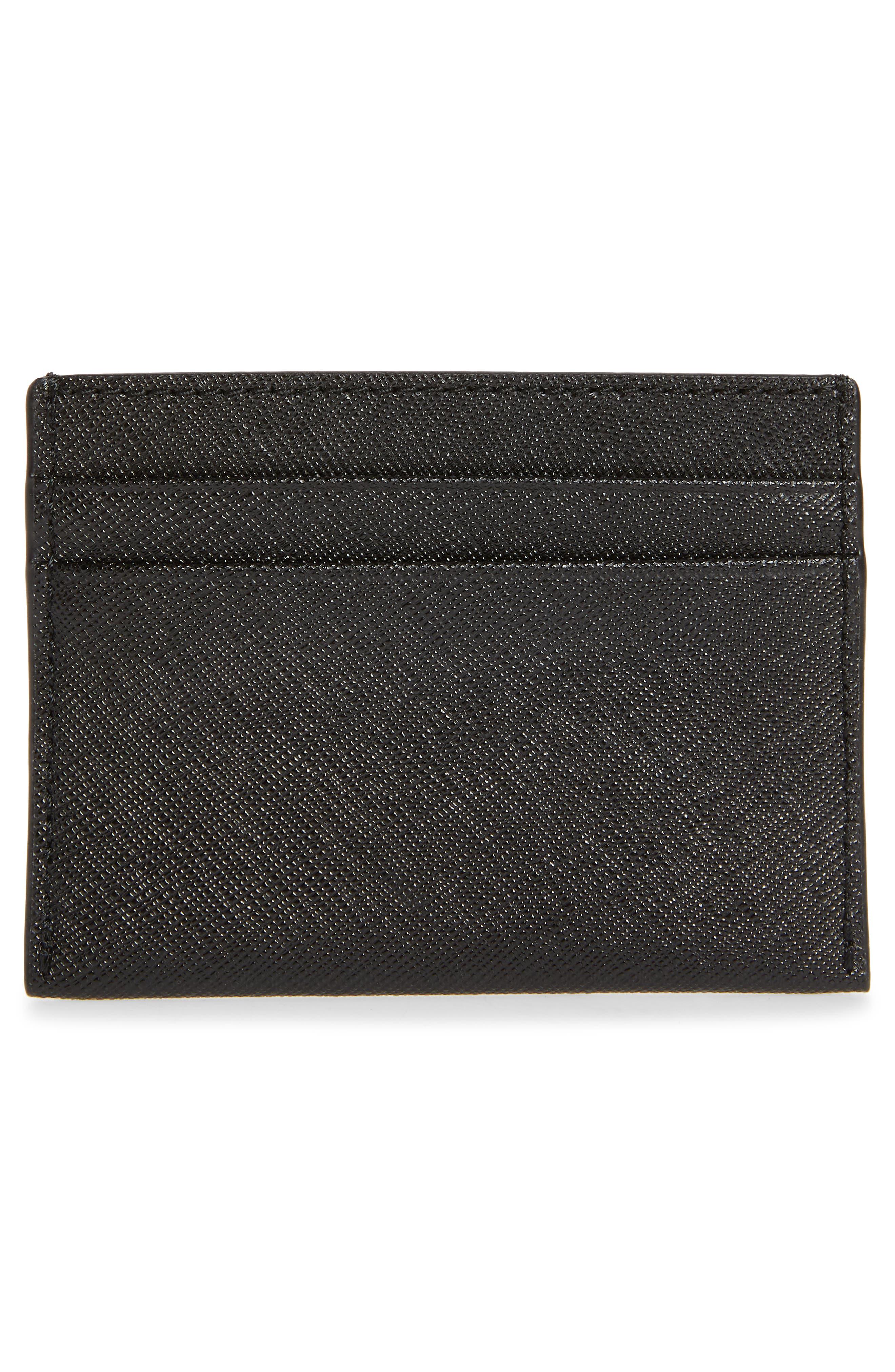 Robinson Leather Card Case,                             Alternate thumbnail 2, color,                             BLACK