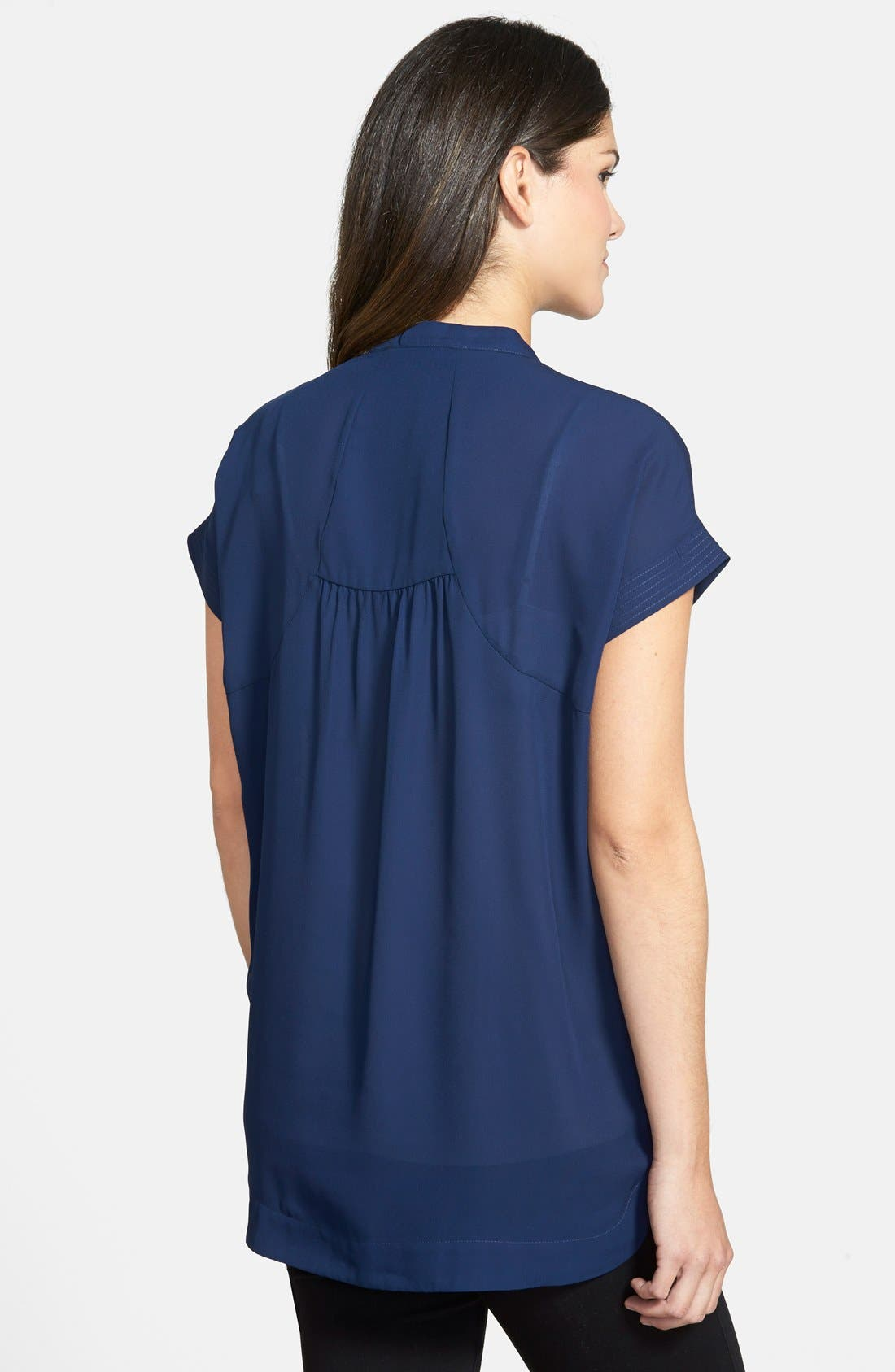 'Carrie' V-Neck Maternity Top,                             Alternate thumbnail 3, color,                             NAVY