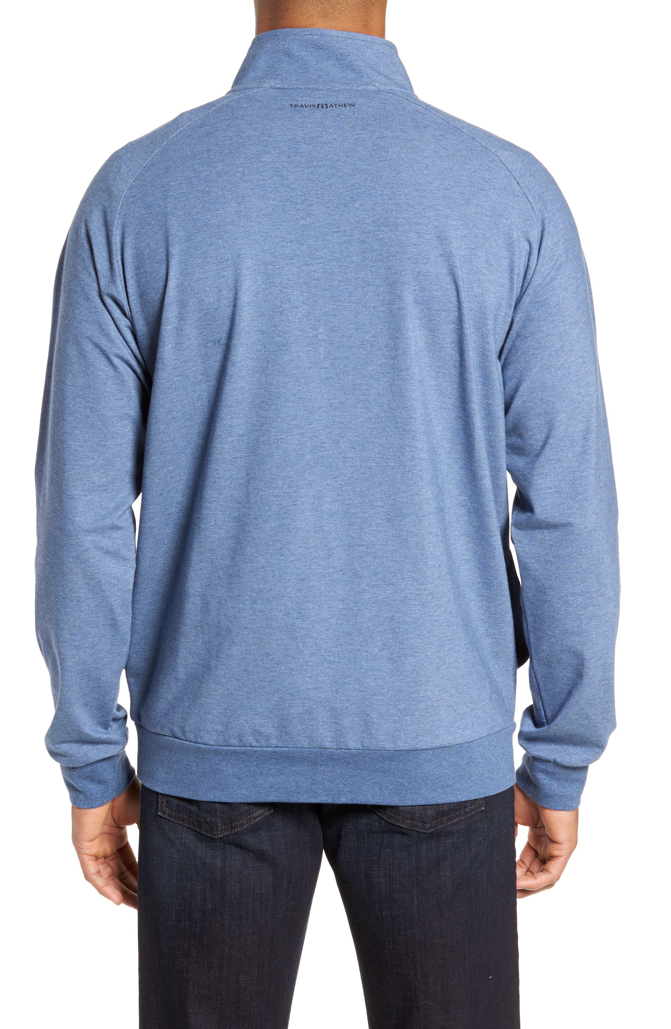 'Strange Love' Trim Fit Wrinkle Resistant Quarter Zip Jacket,                             Alternate thumbnail 8, color,