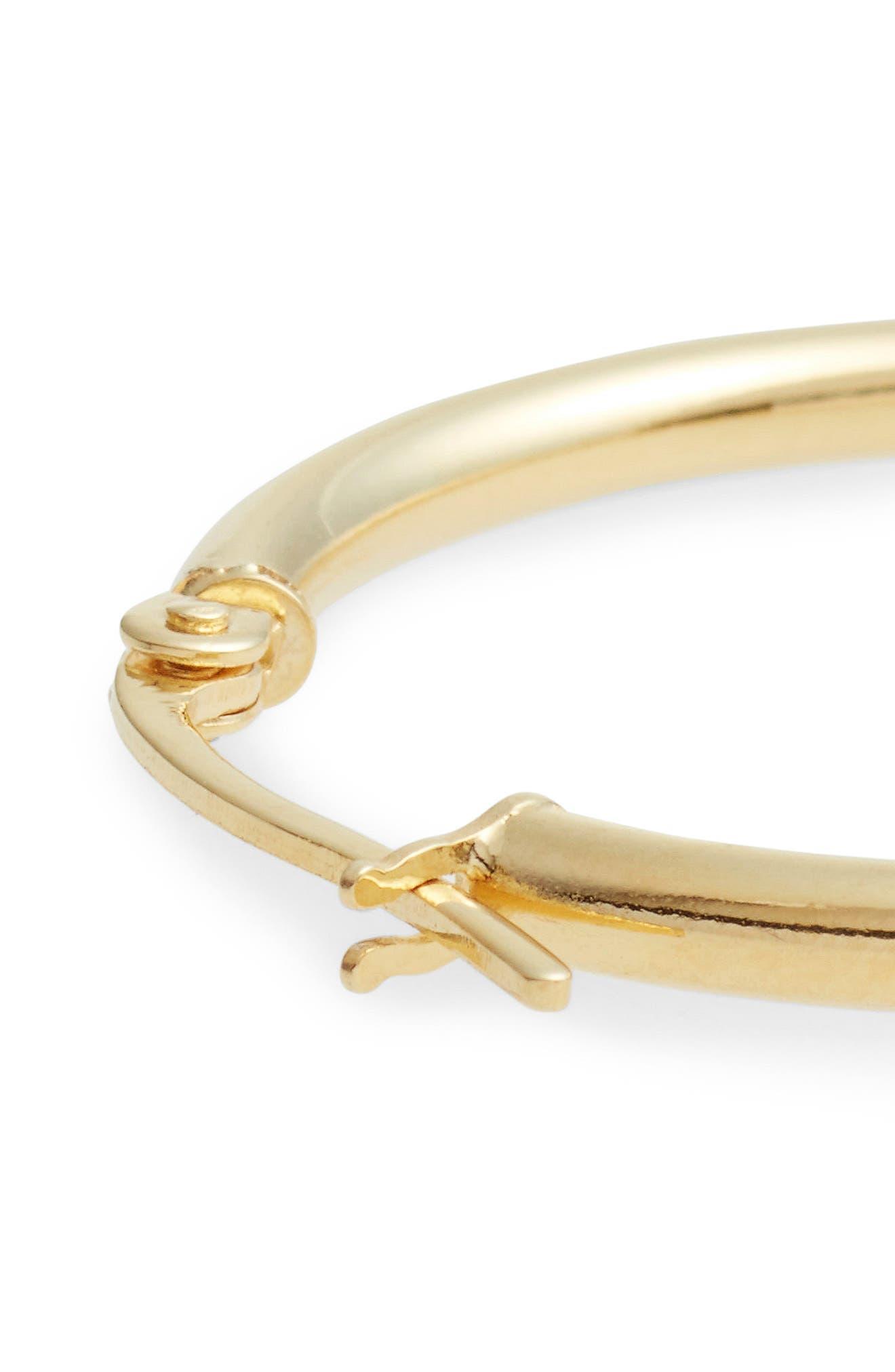 14k Gold Hoop Earrings,                             Alternate thumbnail 6, color,                             YELLOW GOLD