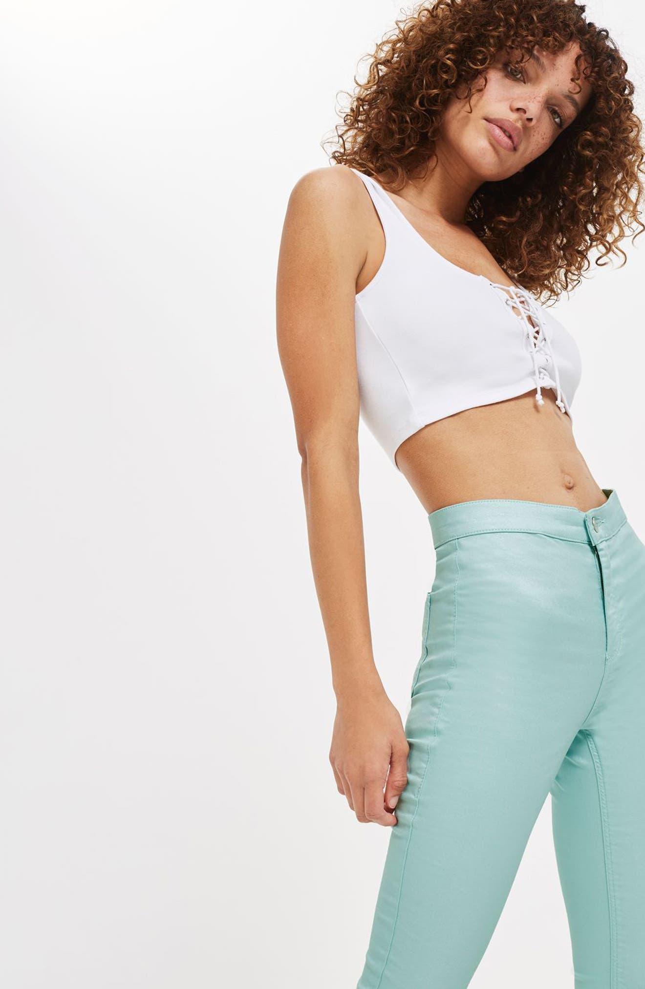 Joni Shimmer Skinny Jeans,                             Alternate thumbnail 4, color,