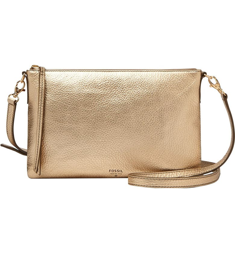 Fossil  Sydney  Top Zip Leather Crossbody Bag  84fe42780a337