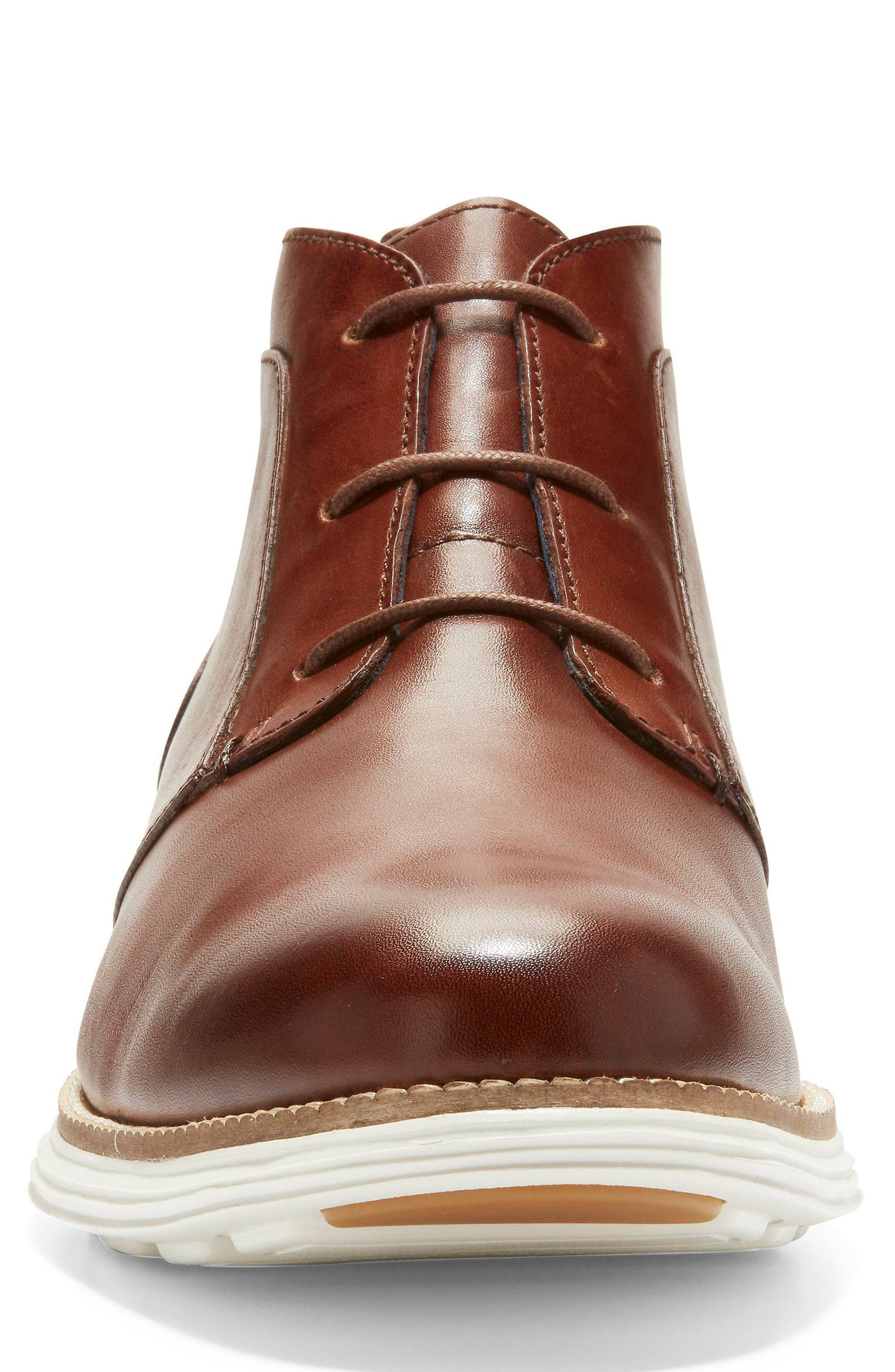 Original Grand Chukka Boot,                             Alternate thumbnail 4, color,                             WOODBURY/ IVORY LEATHER