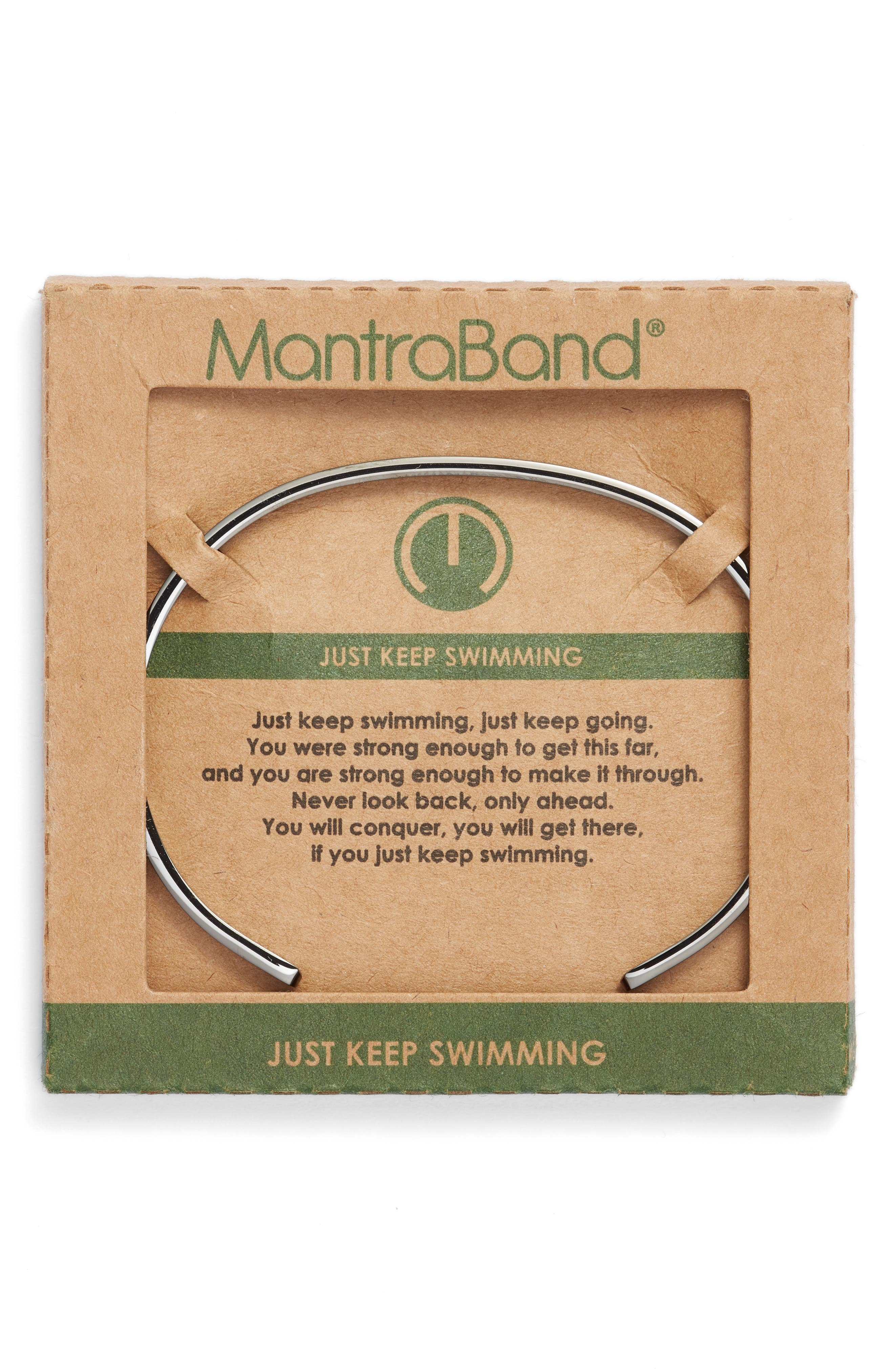 Just Keep Swimming Engraved Cuff,                             Alternate thumbnail 2, color,                             021