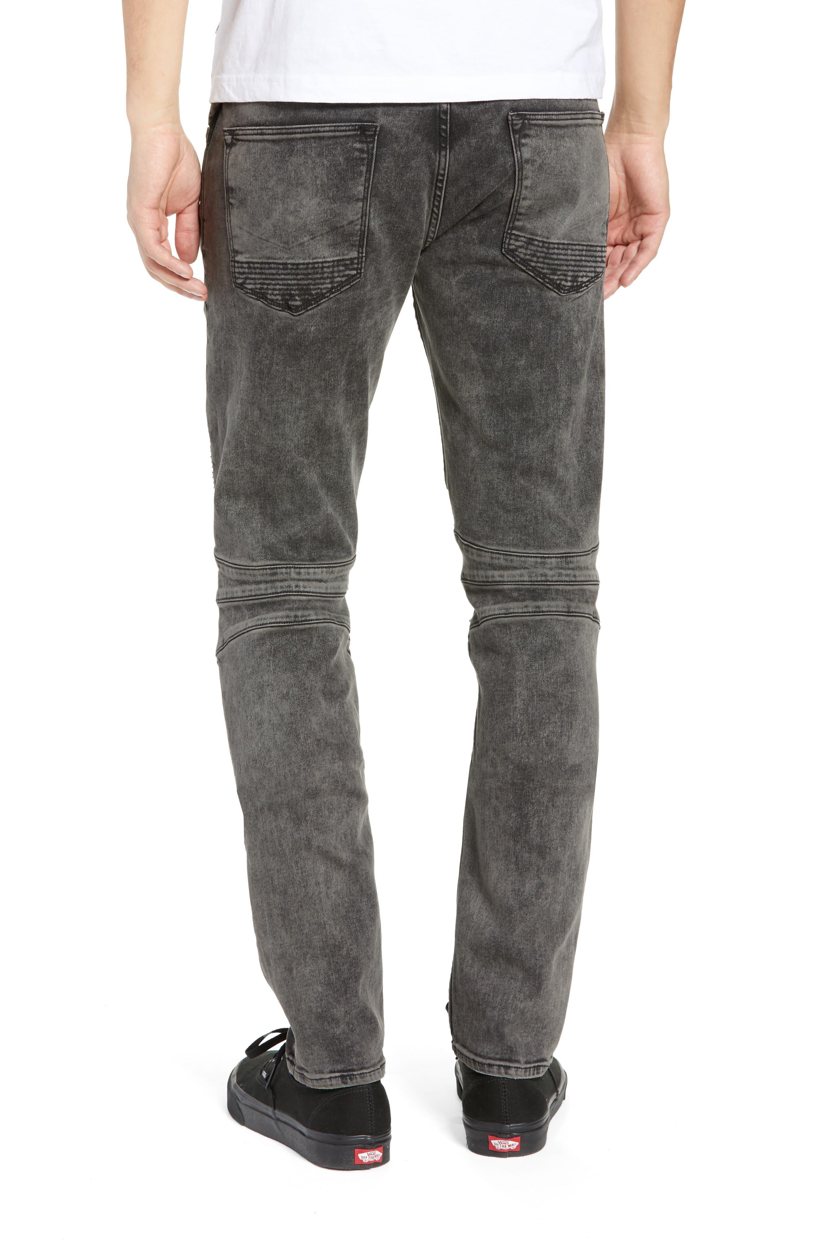 Blinder Biker Skinny Fit Jeans,                             Alternate thumbnail 2, color,                             FADE GRAPHITE