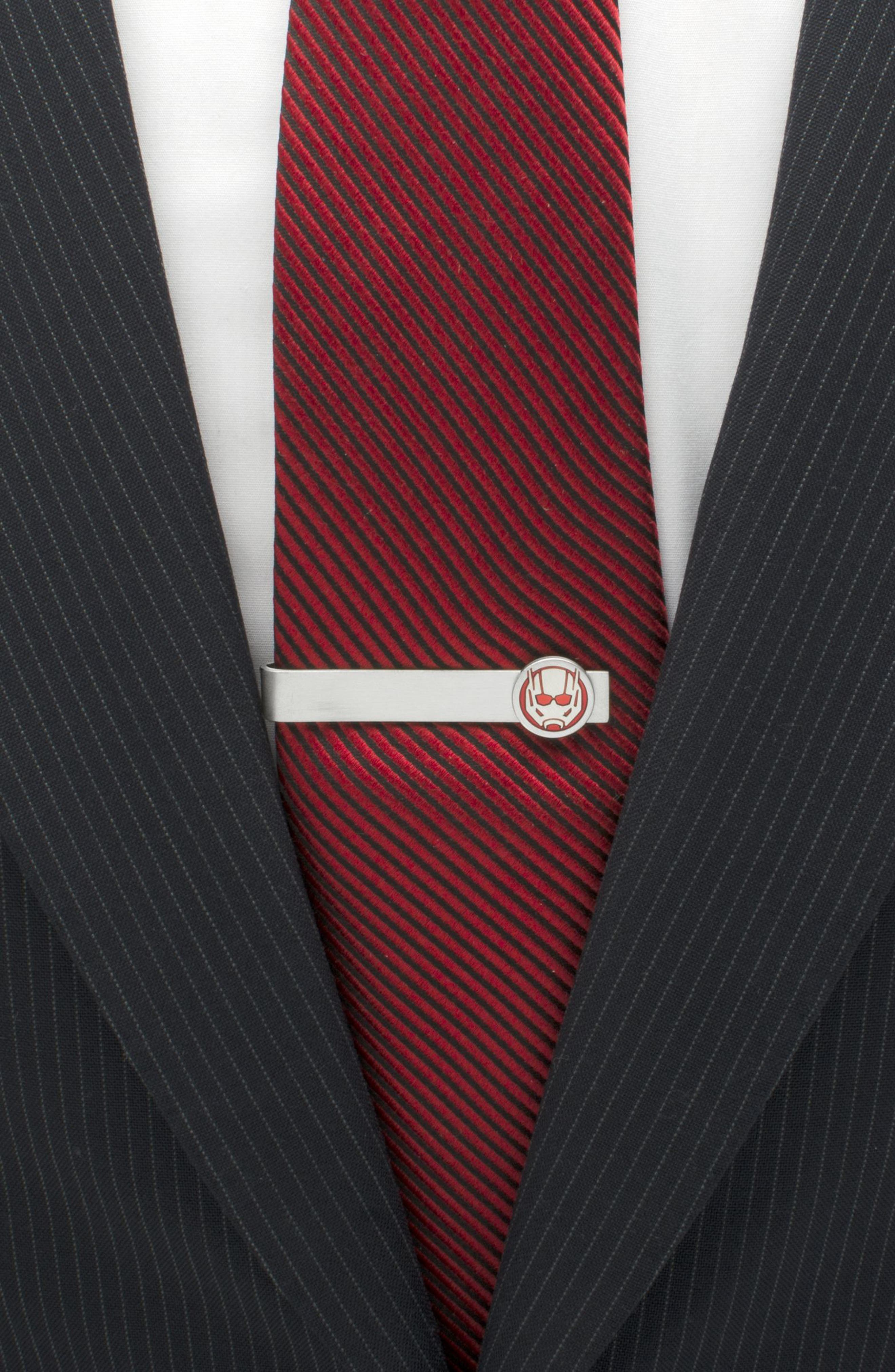Ant-Man Tie Bar,                             Alternate thumbnail 3, color,                             RED/ SILVER