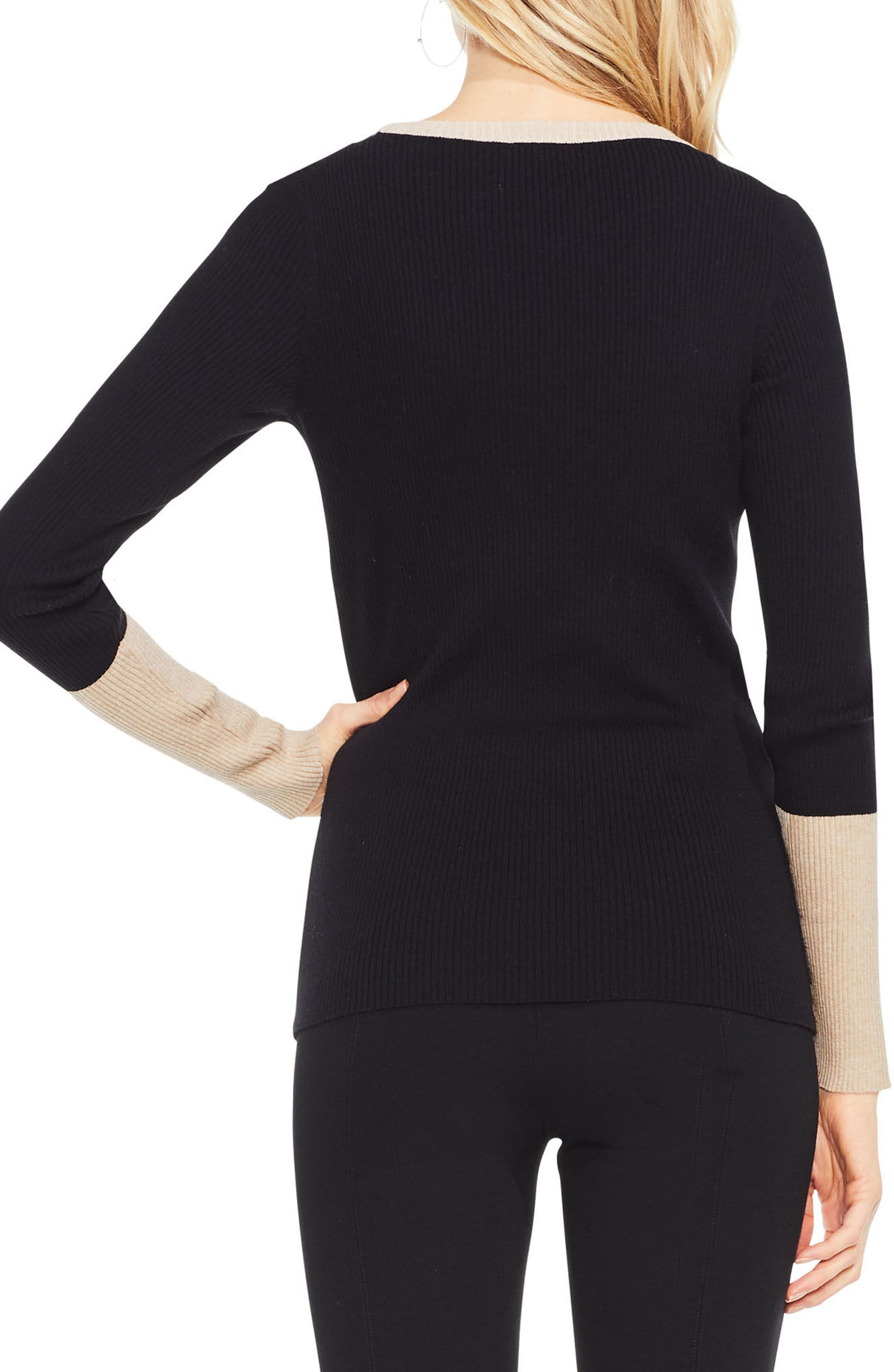 Colorblock Ribbed Sweater,                             Alternate thumbnail 7, color,