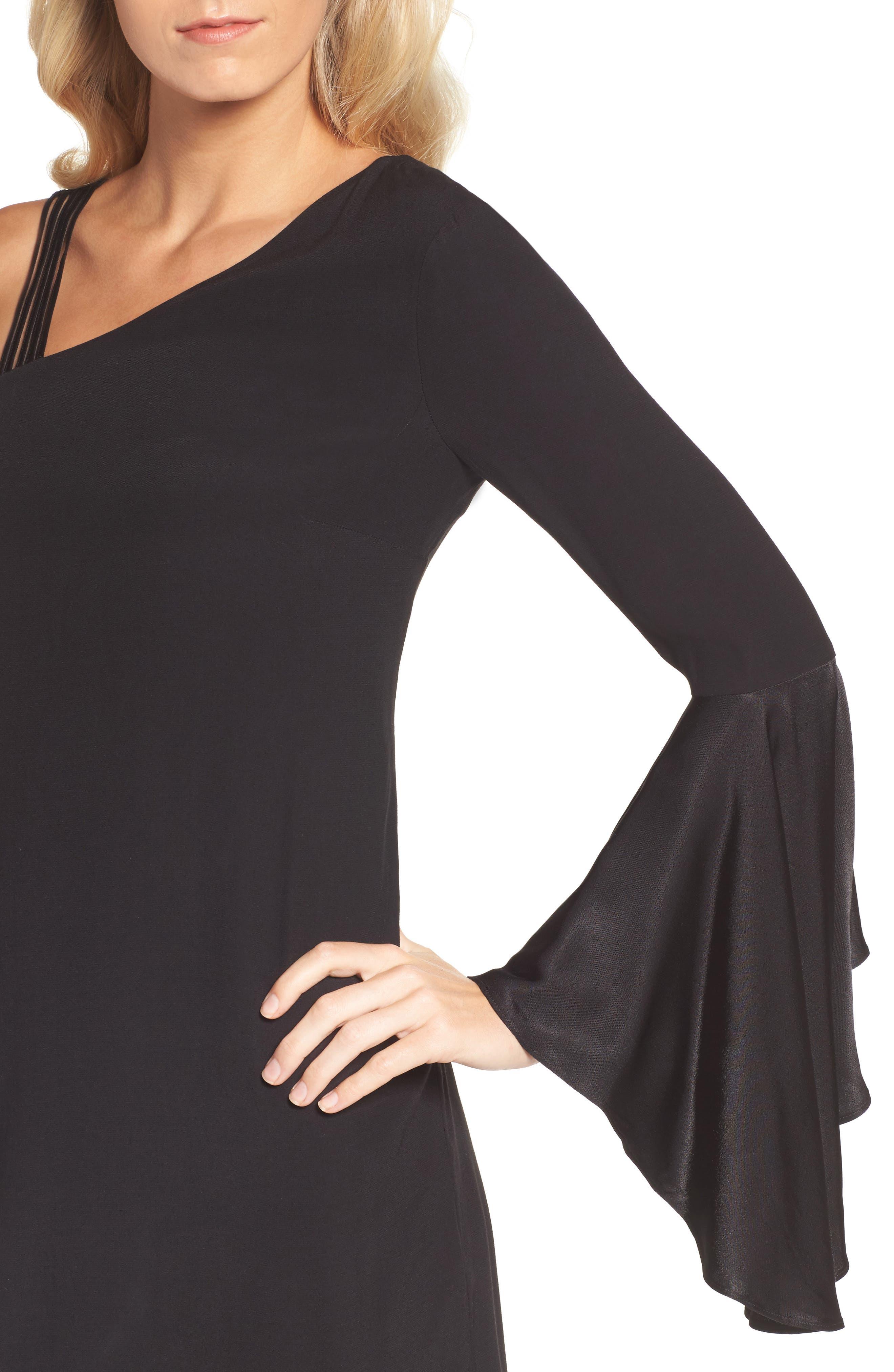 One-Shoulder Sheath Dress,                             Alternate thumbnail 4, color,                             004