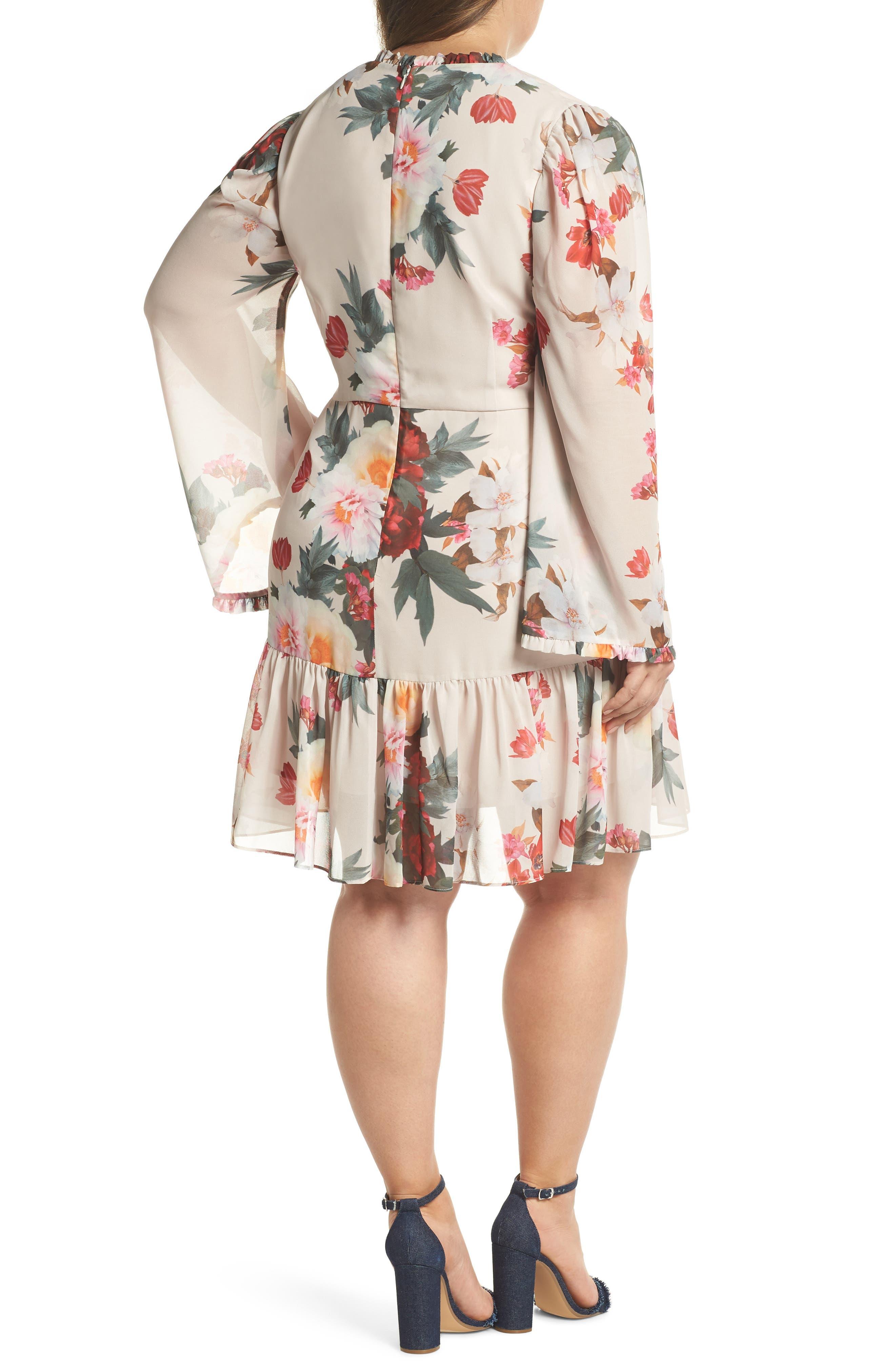 COOPER ST,                             Rosa Floral Chiffon Minidress,                             Alternate thumbnail 2, color,                             250