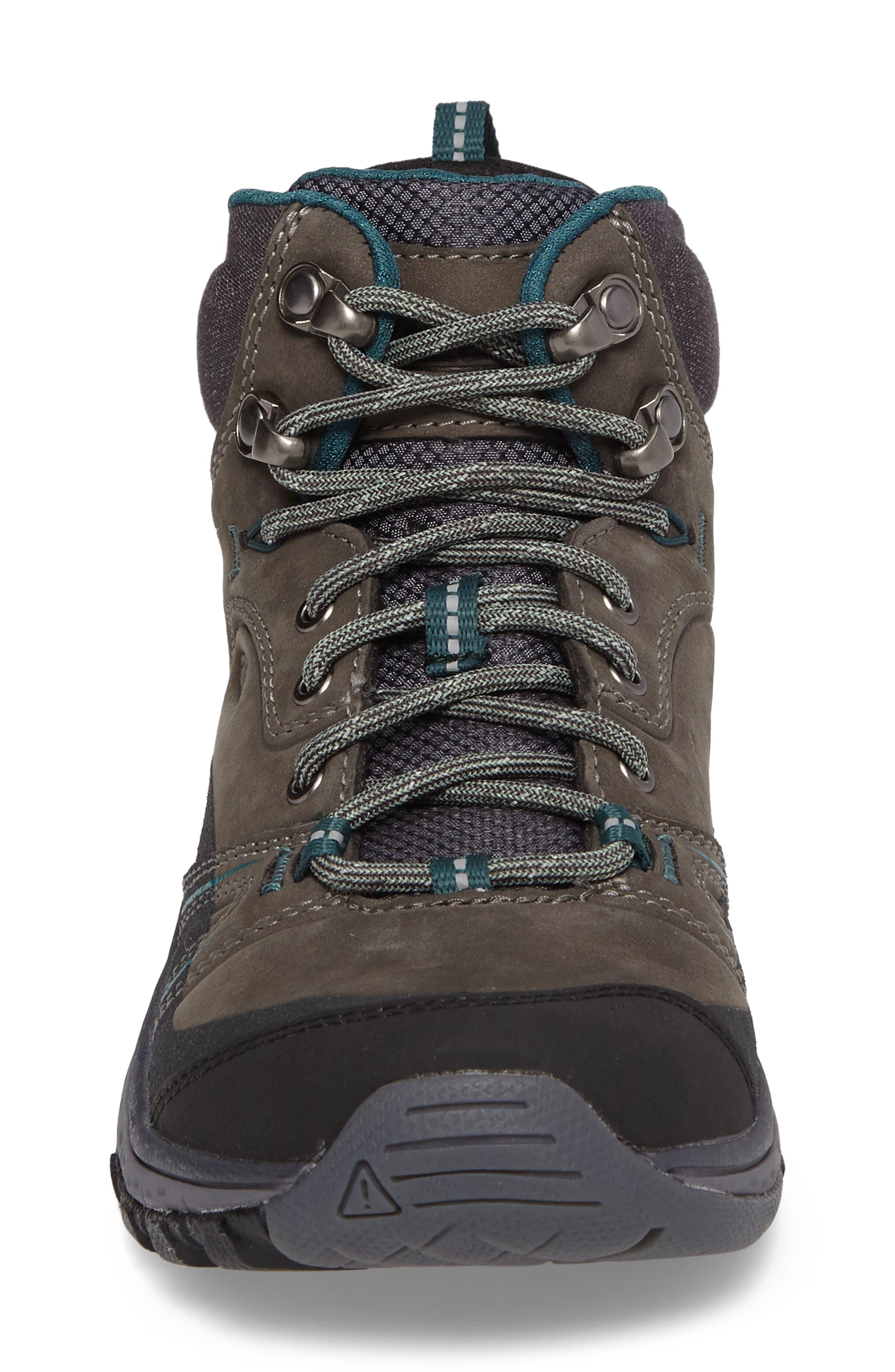 Terradora Leather Waterproof Hiking Boot,                             Alternate thumbnail 4, color,                             MUSHROOM NUBUCK LEATHER