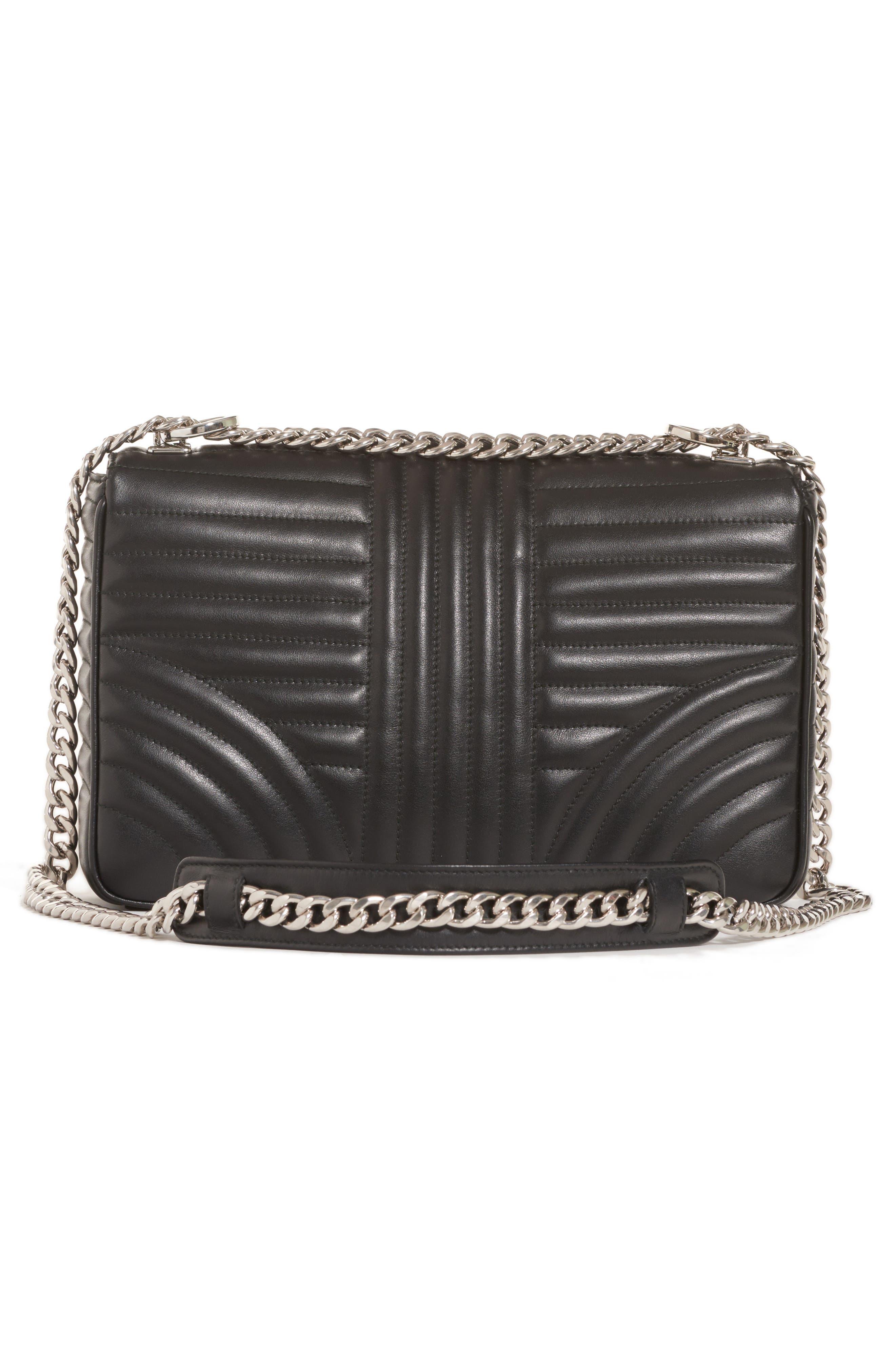 Large Quilted Leather Shoulder Bag,                             Alternate thumbnail 2, color,                             NERO