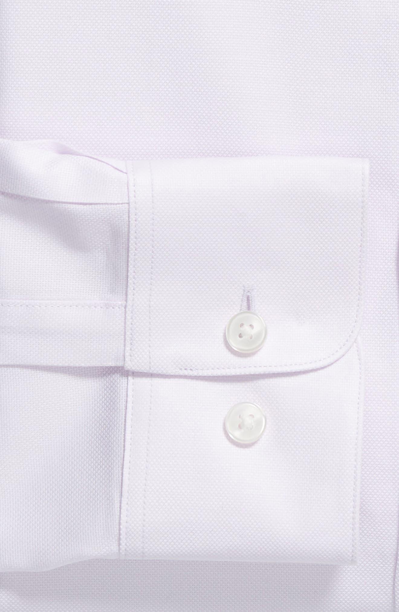 Stripe Regular Fit Dress Shirt,                             Alternate thumbnail 6, color,                             GRAPE