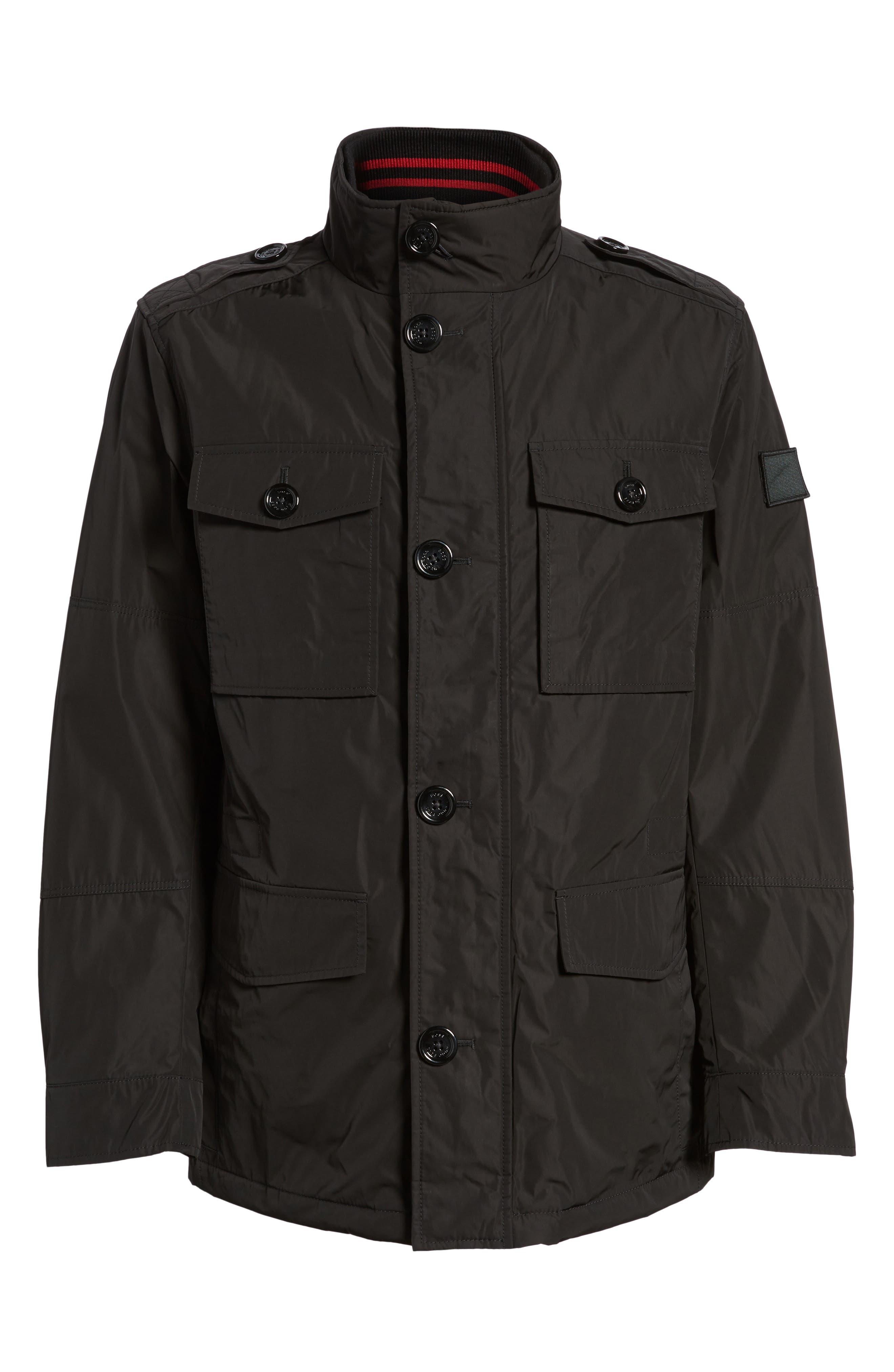 BOSS,                             Camino Regular Fit Field Jacket,                             Alternate thumbnail 5, color,                             001