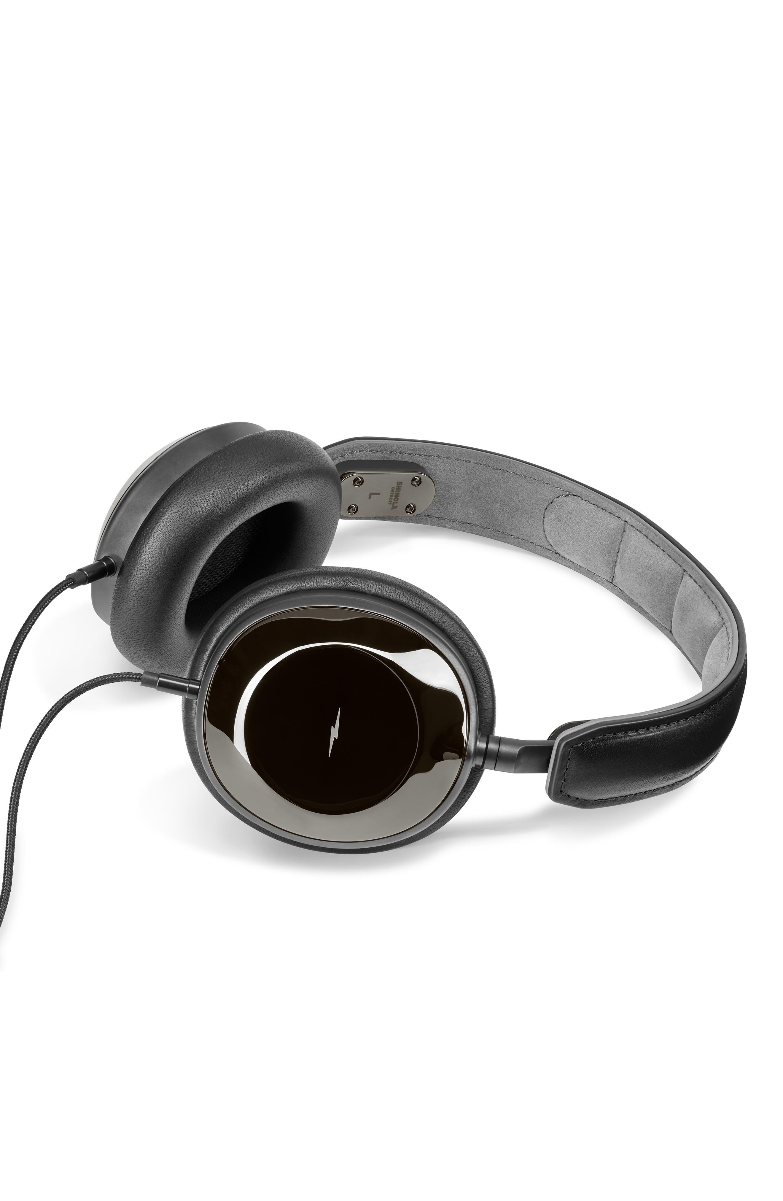 Canfield Over-Ear Headphones,                             Alternate thumbnail 3, color,                             GLOSS BLACK