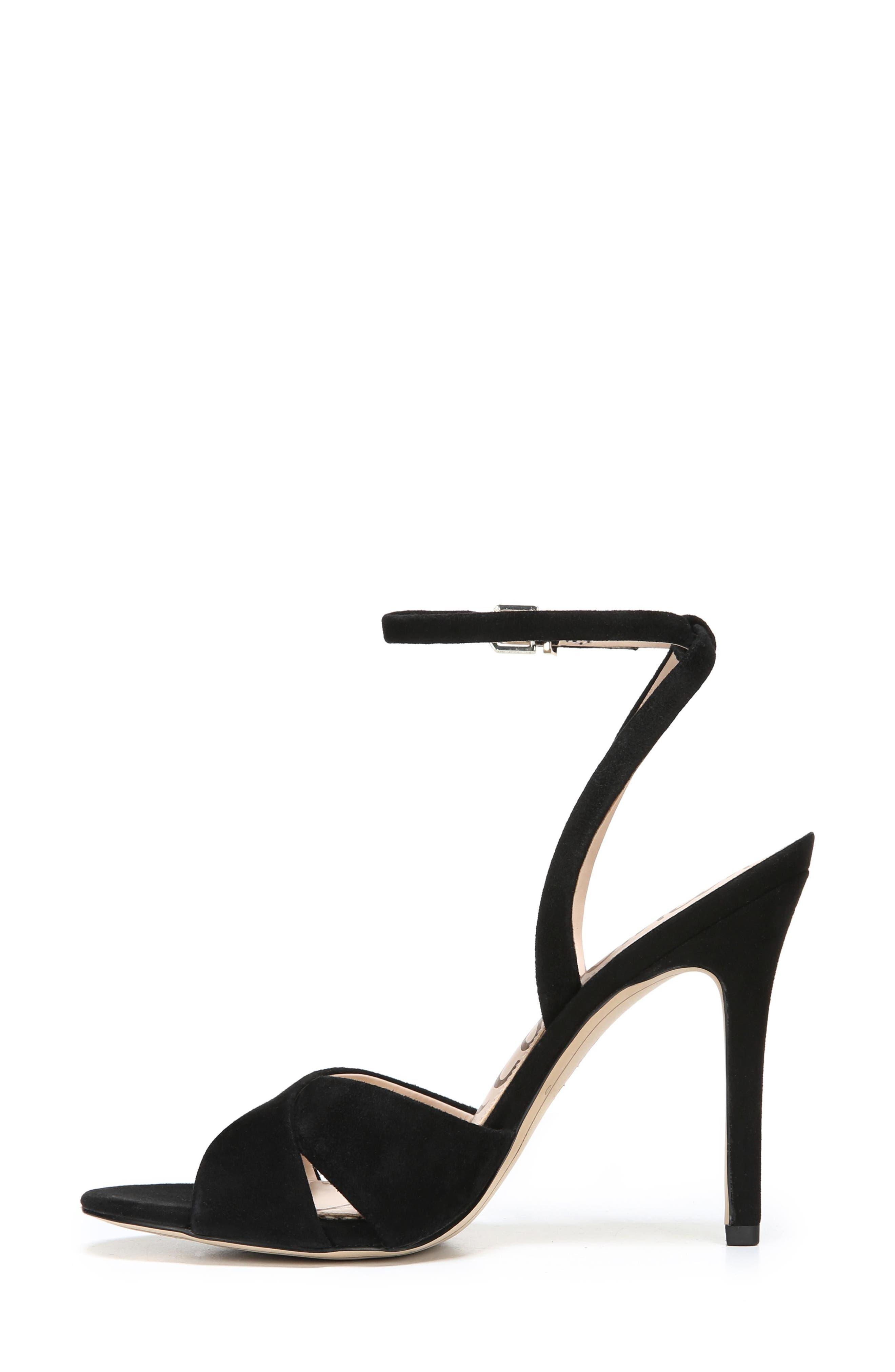 Aly Ankle Strap Sandal,                             Alternate thumbnail 3, color,                             001